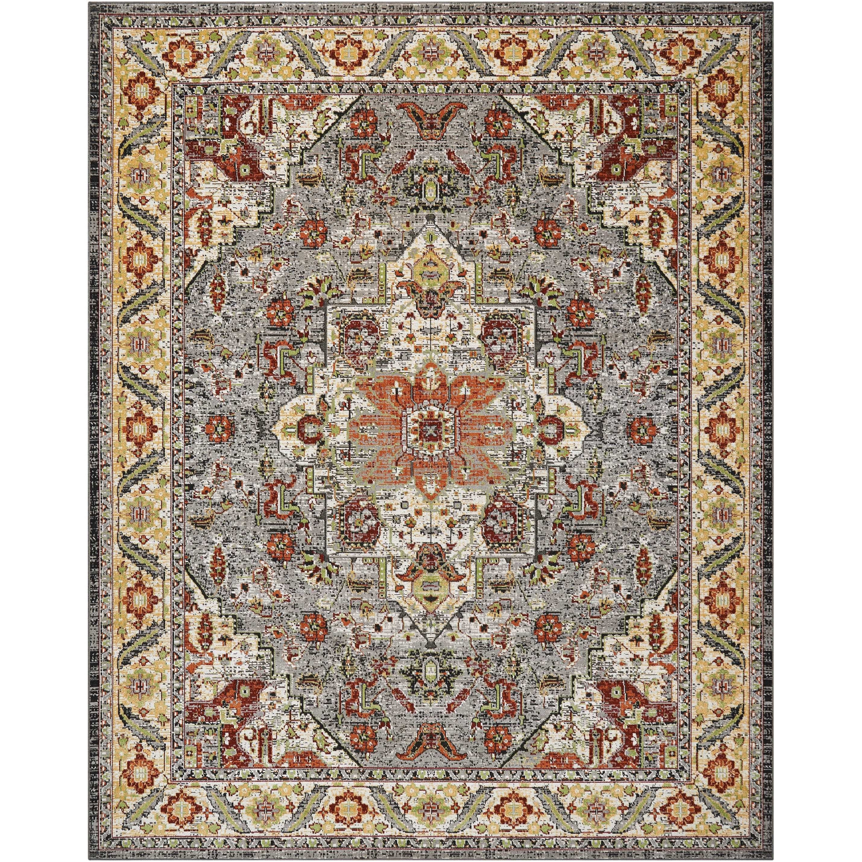 """Aria 7'10"""" X 10' Multicolor Rug by Nourison at Home Collections Furniture"""