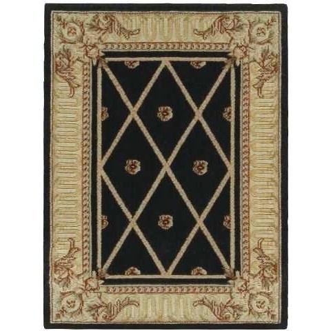 "Ashton House 2' x 2'9"" Black Rectangle Rug by Nourison at Sprintz Furniture"