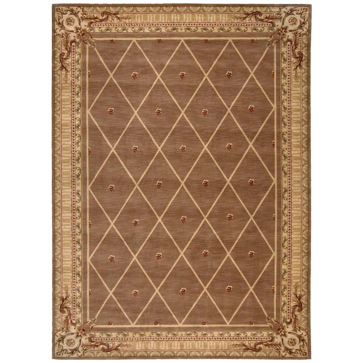 """Ashton House 9'6"""" x 13' Cocoa Rectangle Rug by Nourison at Home Collections Furniture"""