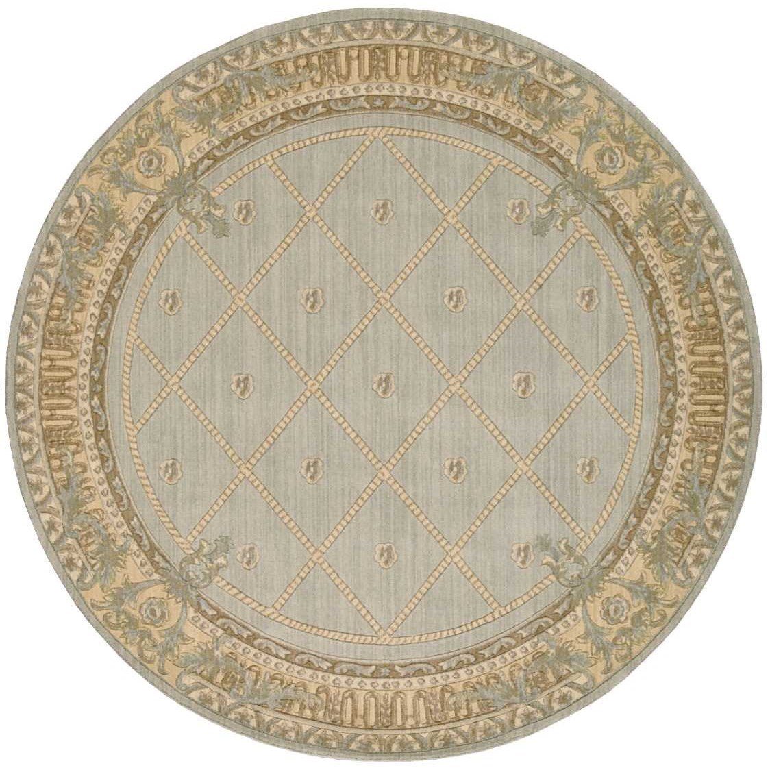 """Ashton House 7'5"""" x 7'5"""" Surf Round Rug by Nourison at Home Collections Furniture"""