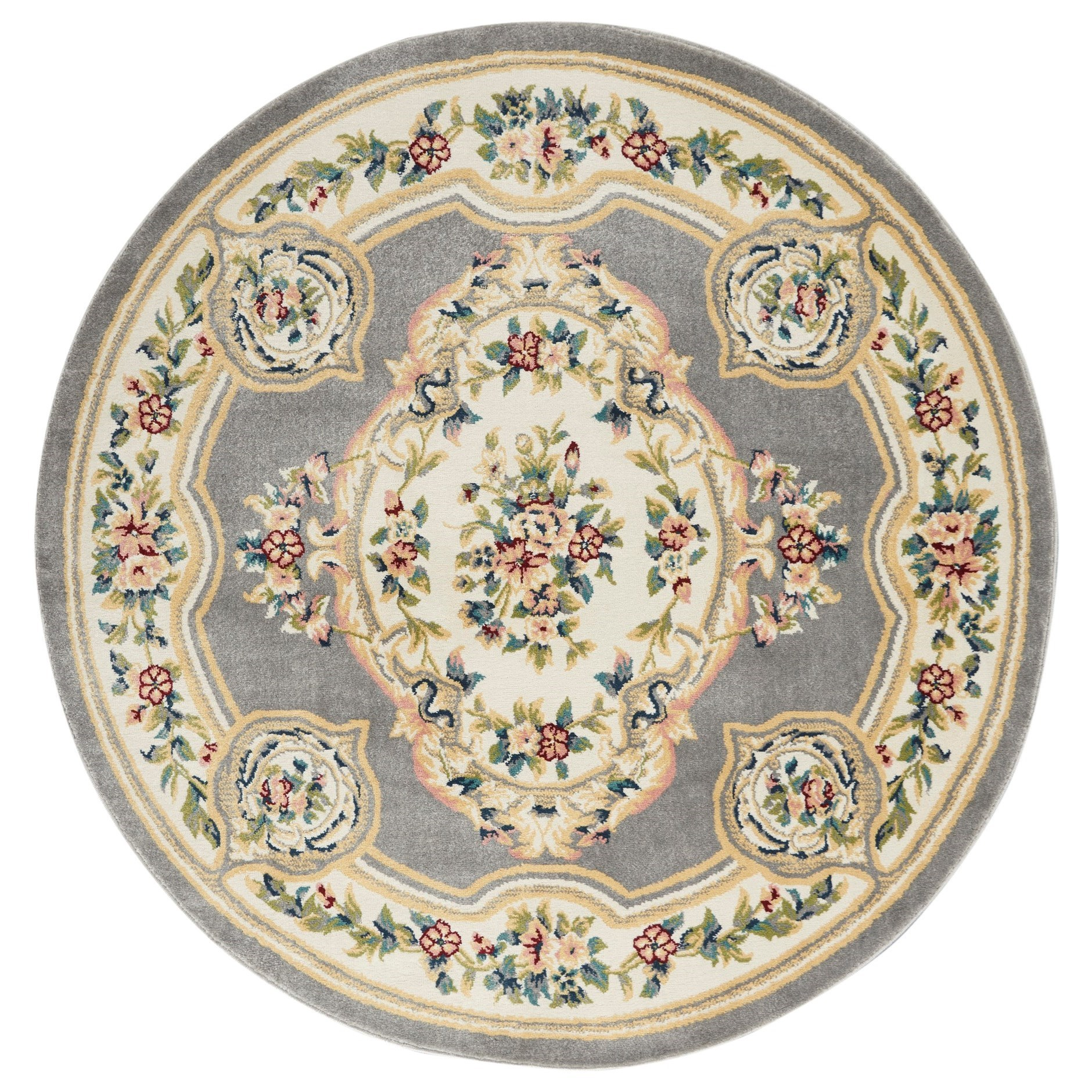 Aubusson 2020 5' Round Rug by Nourison at Home Collections Furniture