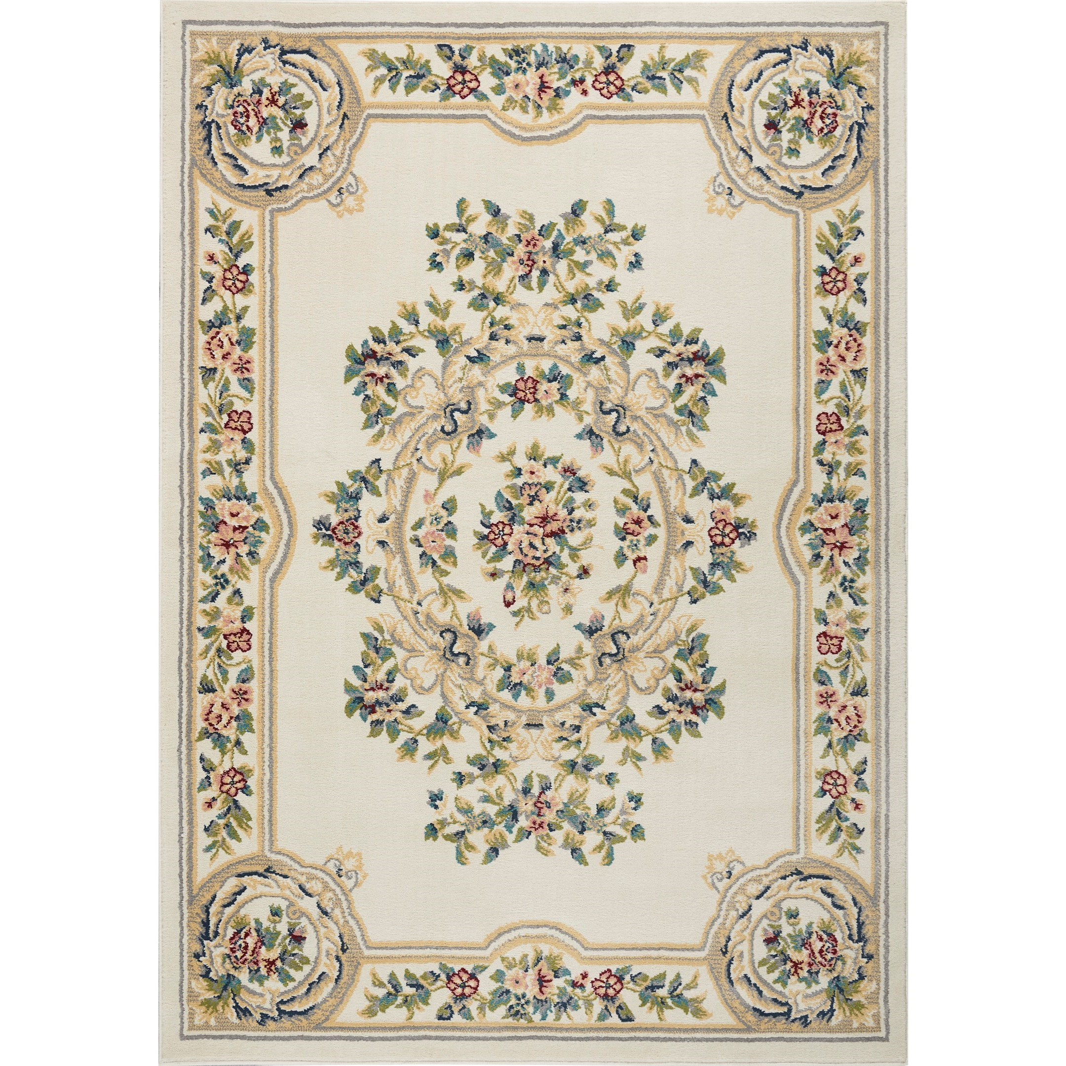 Aubusson 2020 9' x 12' Rug by Nourison at Home Collections Furniture