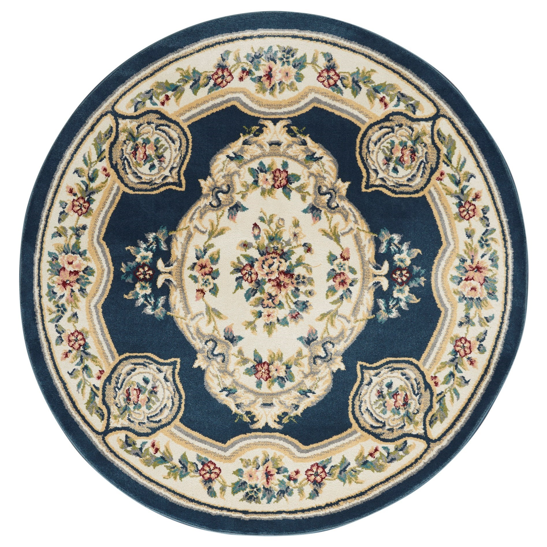Aubusson 2020 5' Round Rug by Nourison at Adcock Furniture