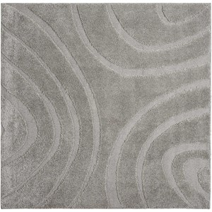 "6'7"" X 6'7"" Silver Rectangle Rug"