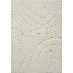 4' X 6' White Rectangle Rug