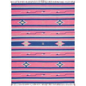 8' X 10' Pink/Blue Rug