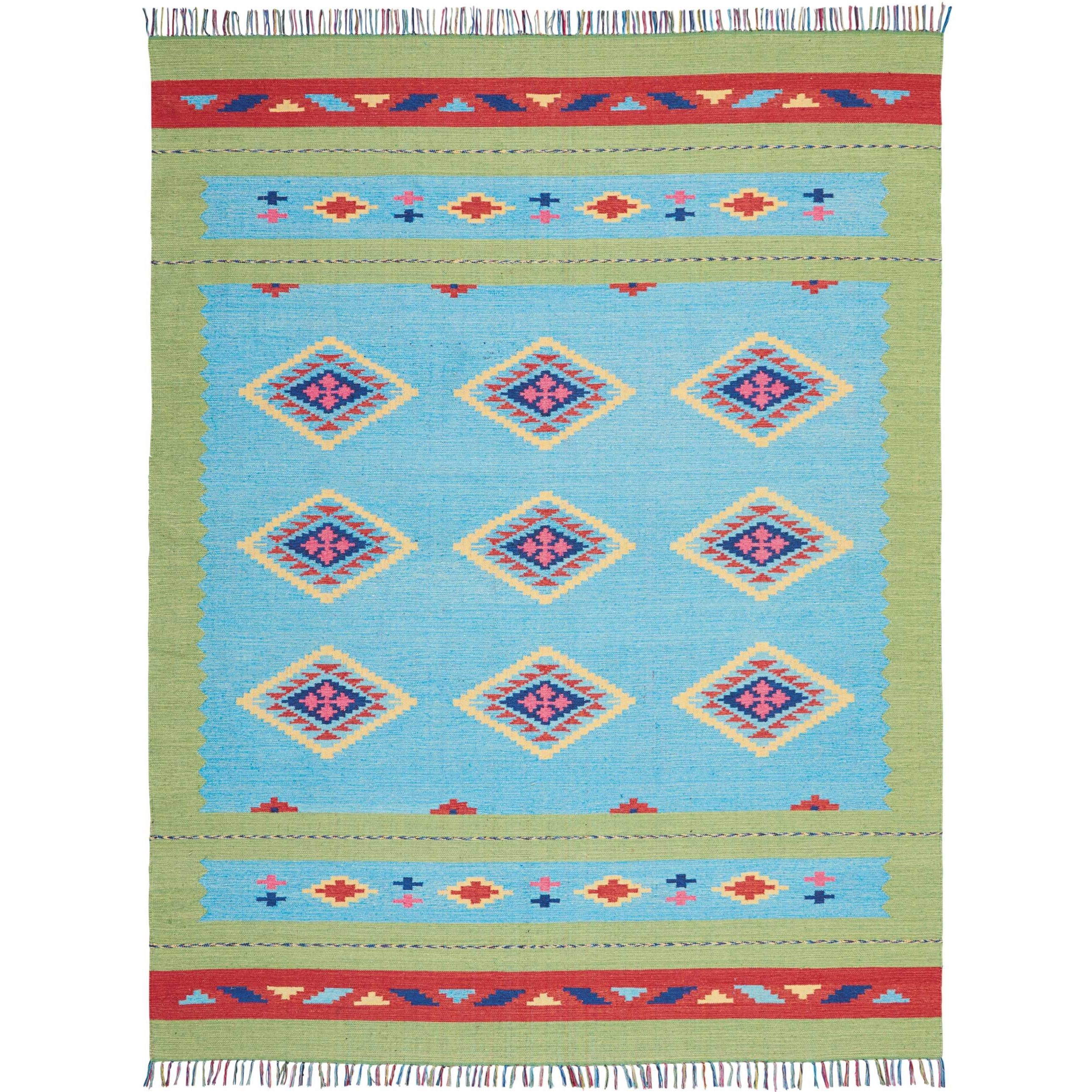 Baja 8' X 10' Blue Green Rug by Nourison at Home Collections Furniture
