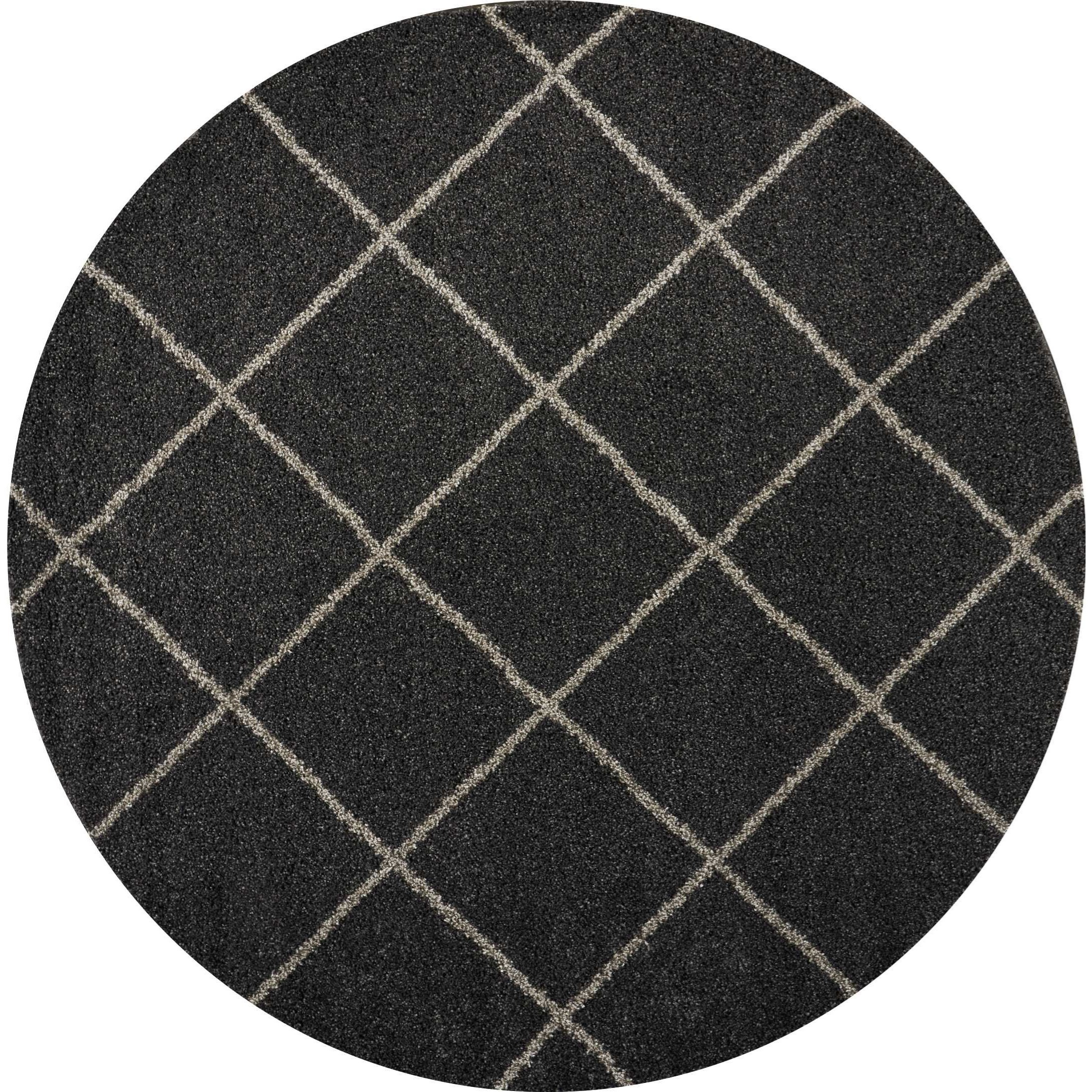 """Brisbane 8'2"""" X 8'2"""" Charcoal Rug by Nourison at Home Collections Furniture"""