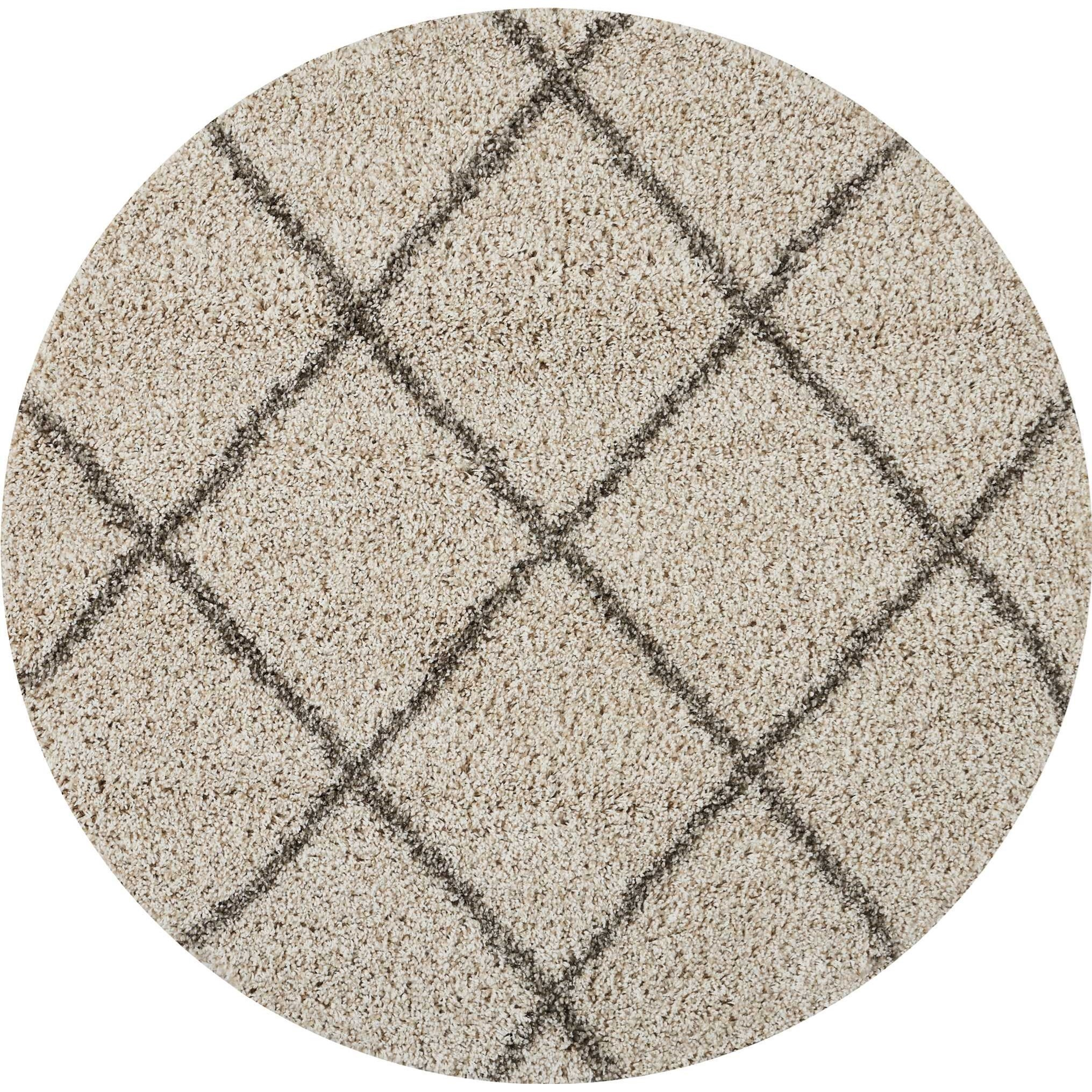 Brisbane 4' X 4' Cream Rug by Nourison at Home Collections Furniture