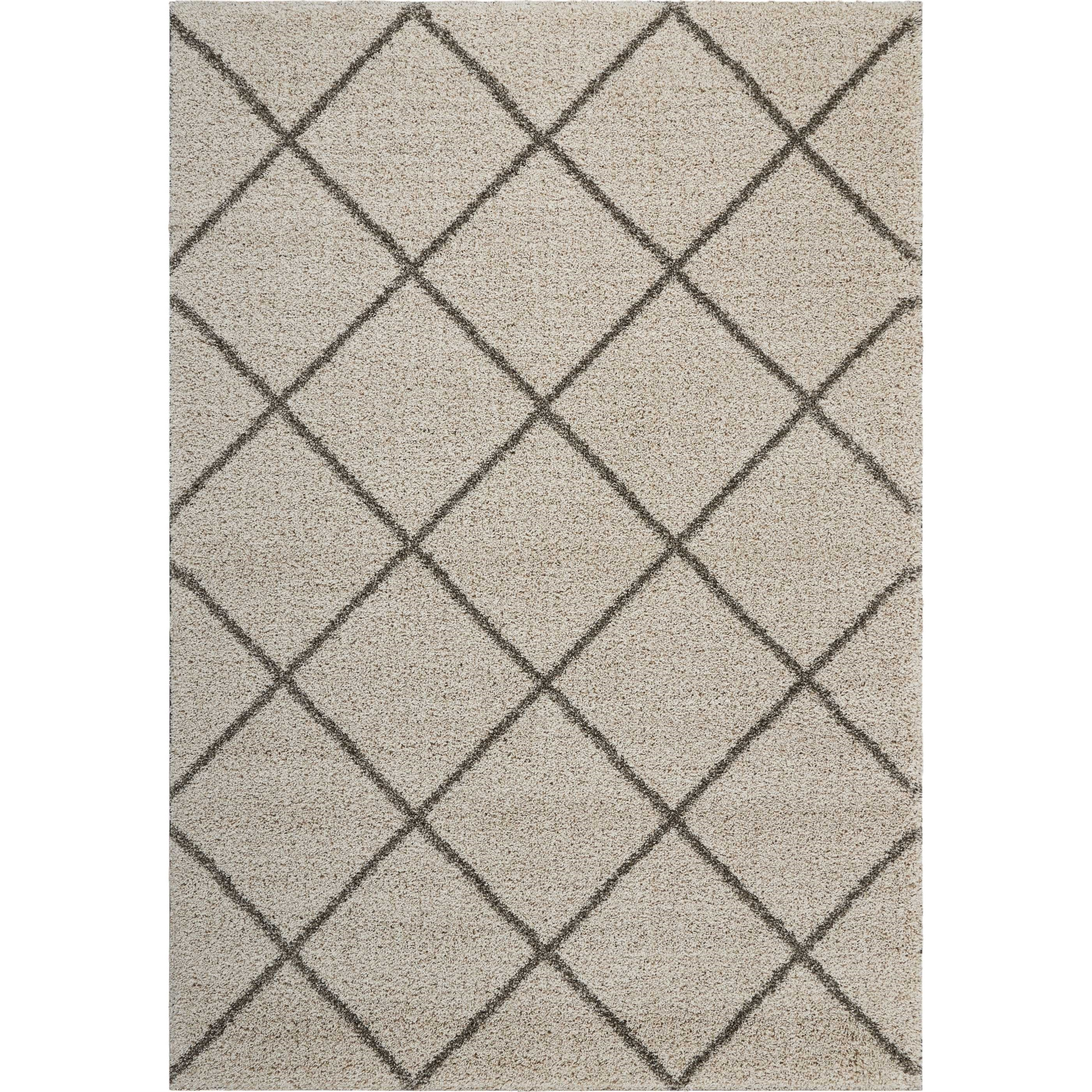 "Brisbane 6'7"" X 9'7"" Cream Rug by Nourison at Home Collections Furniture"