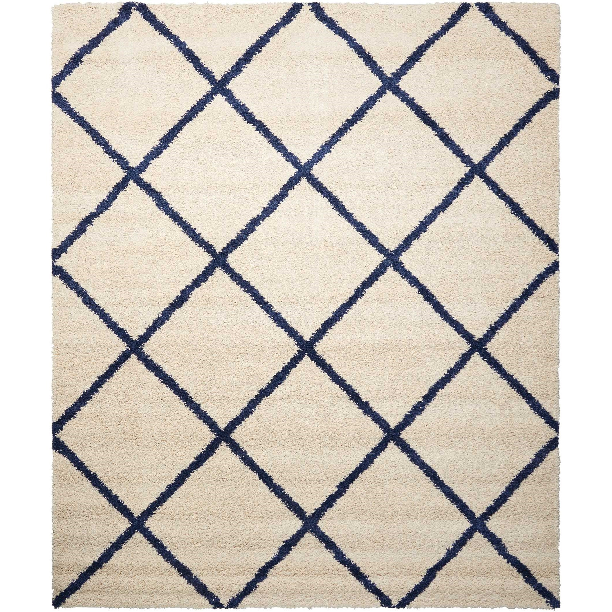 "Brisbane 8'2"" x 10' Ivory/Blue Rectangle Rug by Nourison at Home Collections Furniture"