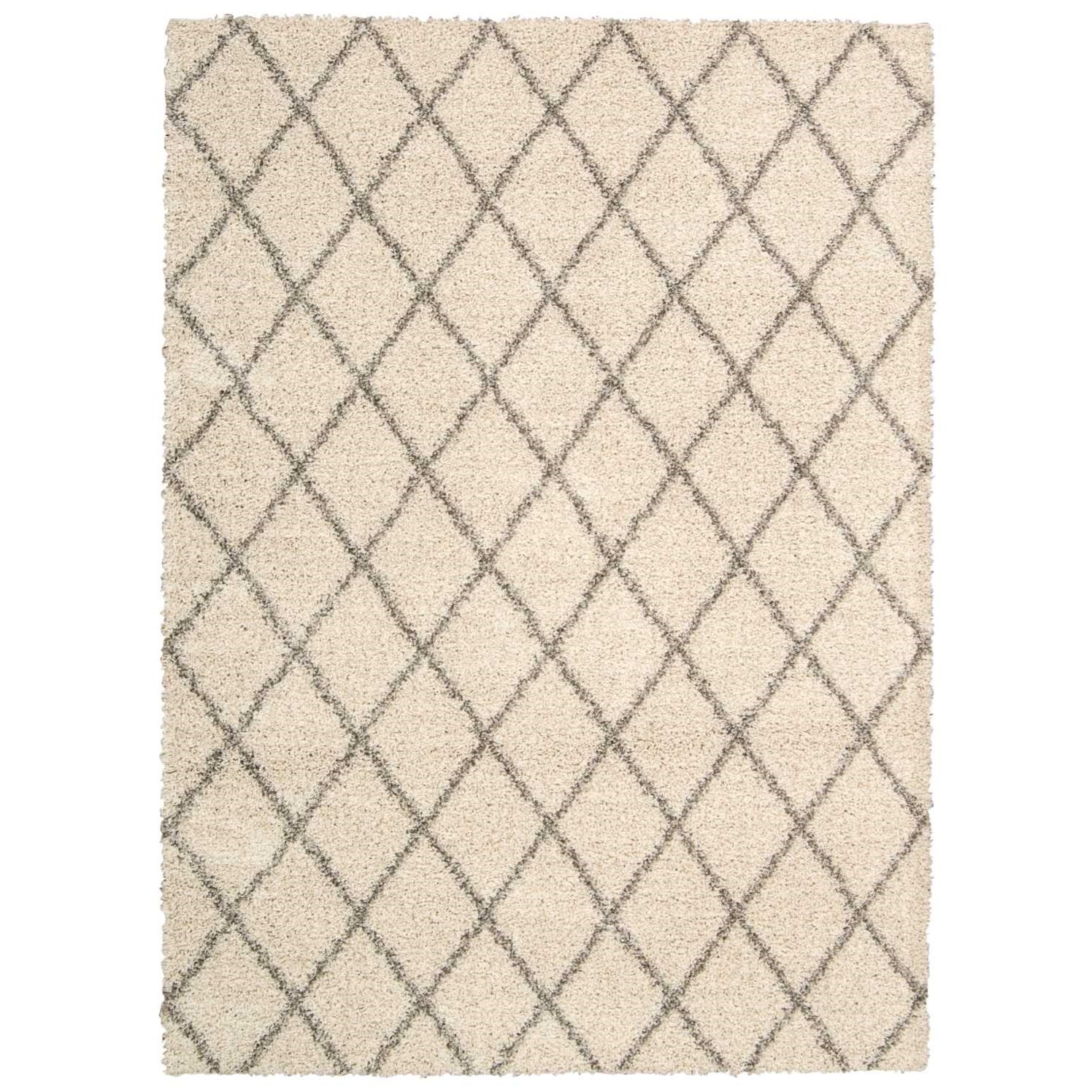 """Brisbane 8'2"""" x 10' Cream Rectangle Rug by Nourison at Home Collections Furniture"""