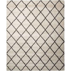 5' x 7' Ivory/Charcoal Rectangle Rug