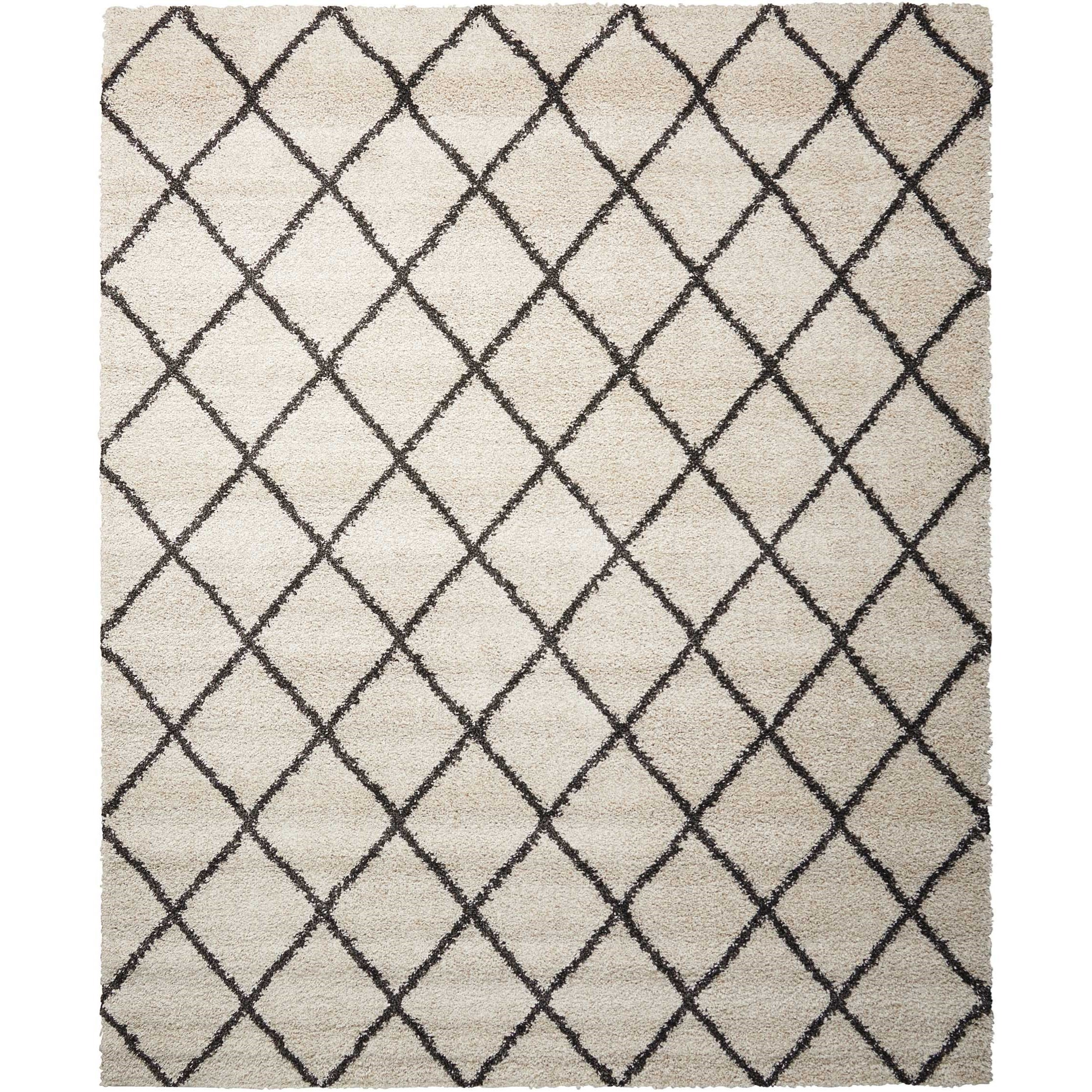 "Brisbane 8'2"" x 10' Ivory/Charcoal Rectangle Rug by Nourison at Home Collections Furniture"