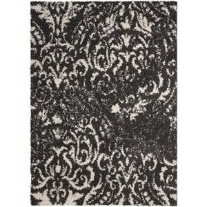 5' x 7' Black/White Rectangle Rug