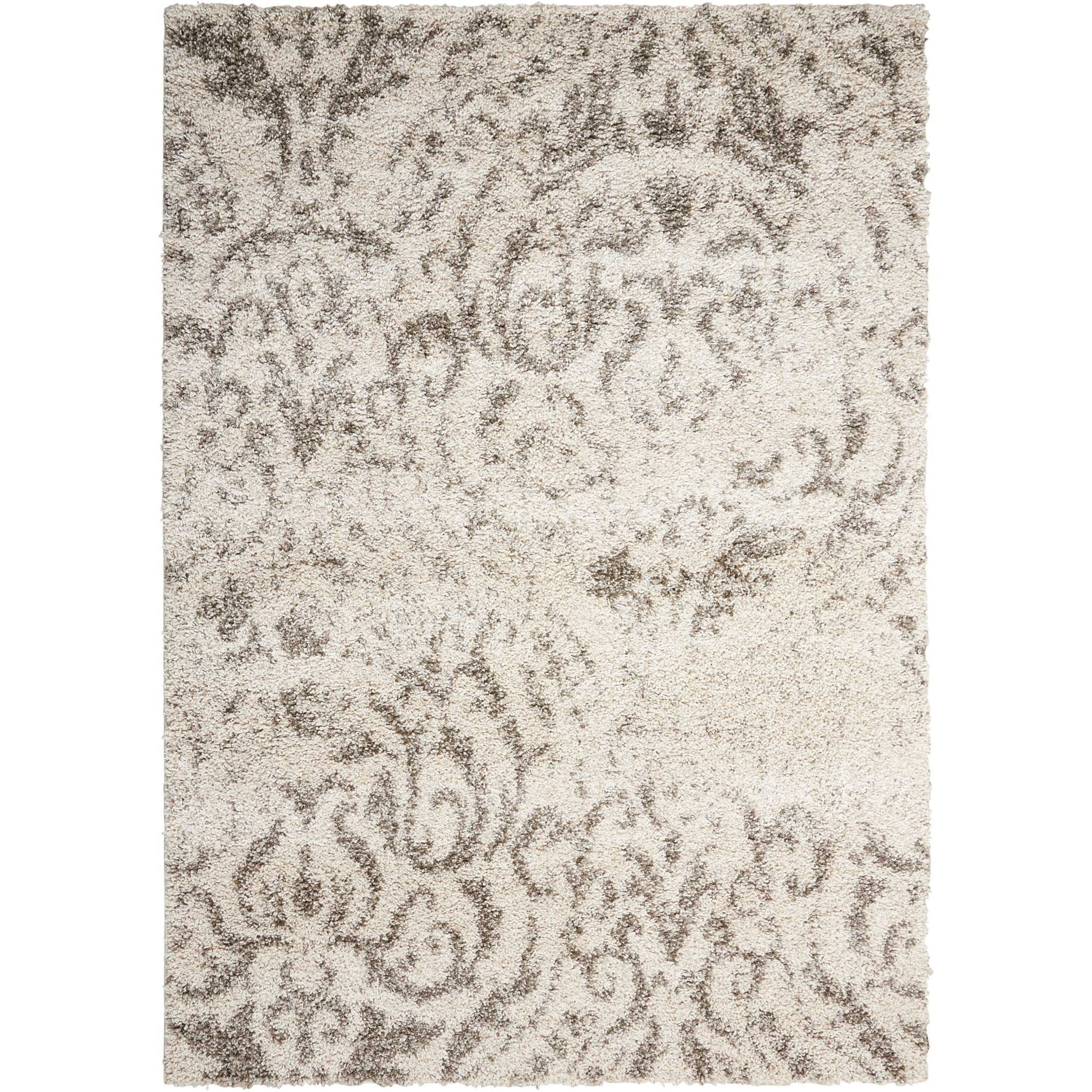 Brisbane 5' x 7' Cream Rectangle Rug by Nourison at Home Collections Furniture