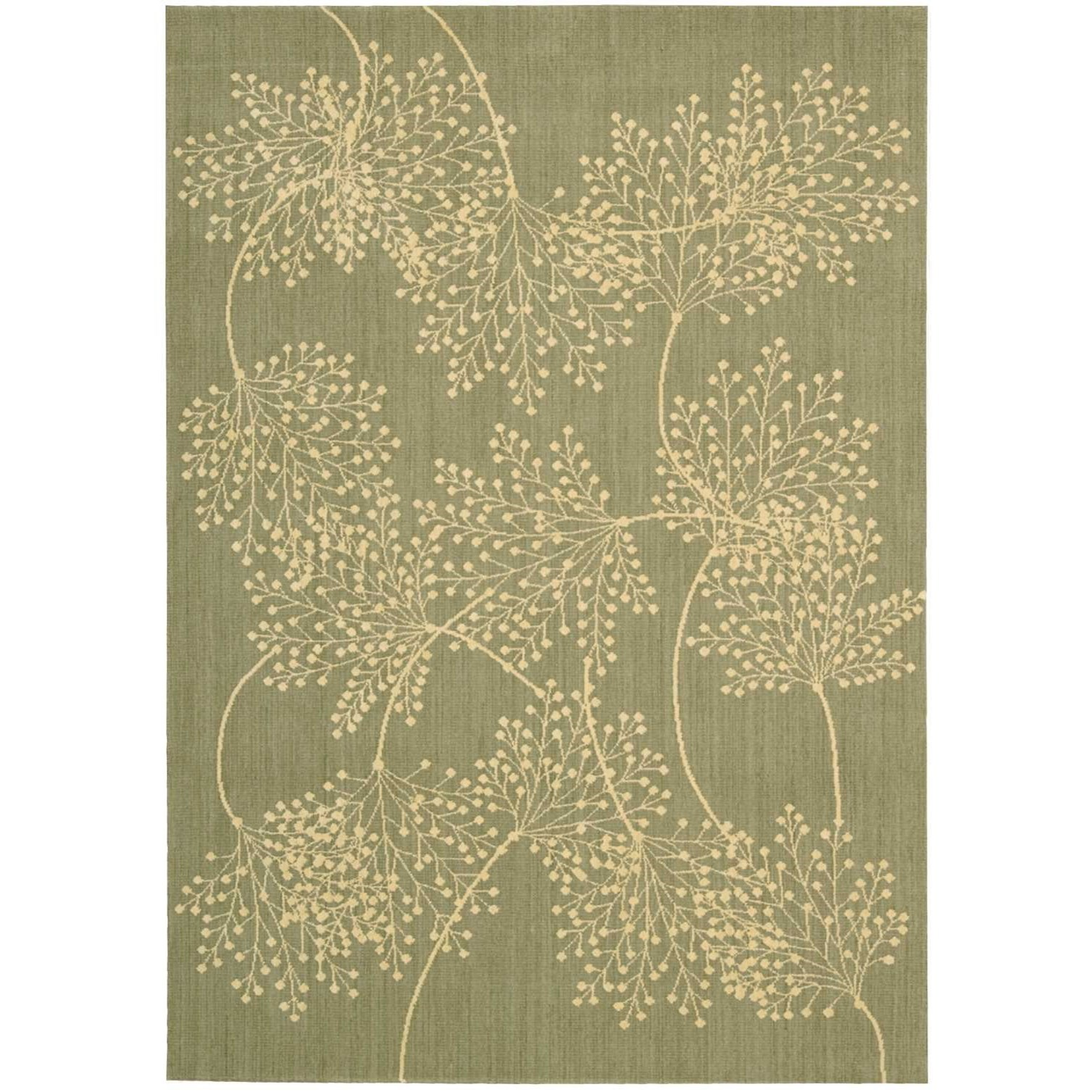"Capri 5'3"" x 7'5"" Sage Rectangle Rug by Nourison at Home Collections Furniture"