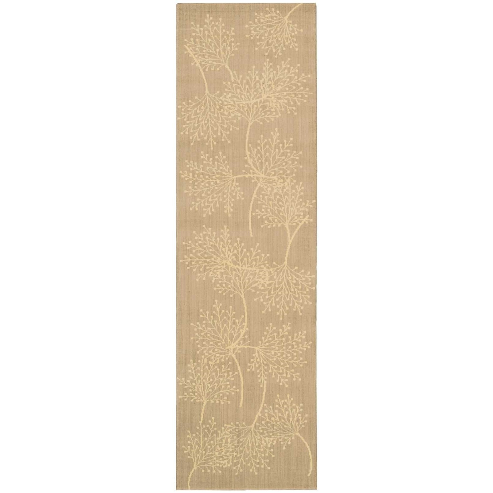 """Capri 2'3"""" x 8' Sand Runner Rug by Nourison at Home Collections Furniture"""