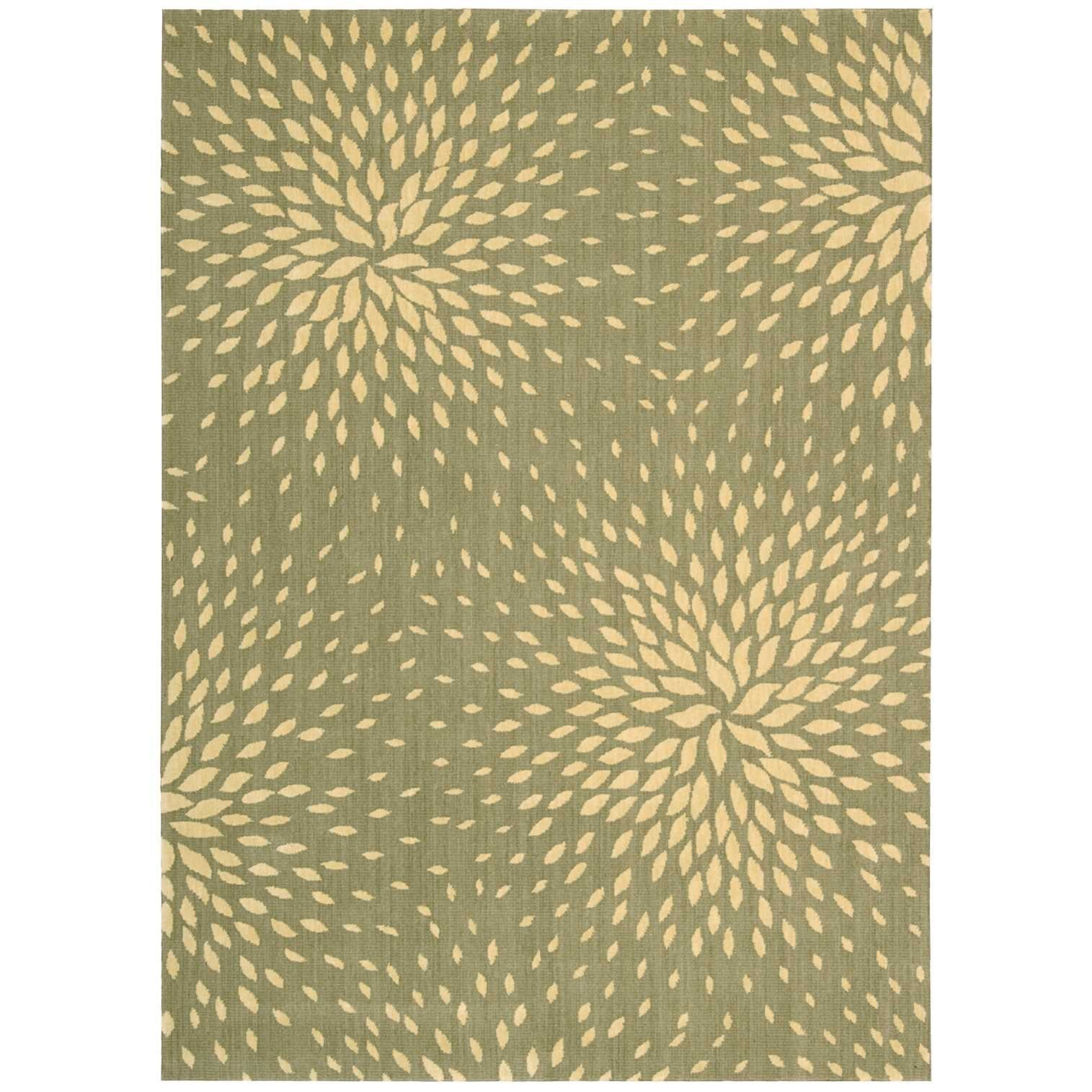 "Capri 3'6"" x 5'6"" Light Green Rectangle Rug by Nourison at Sprintz Furniture"