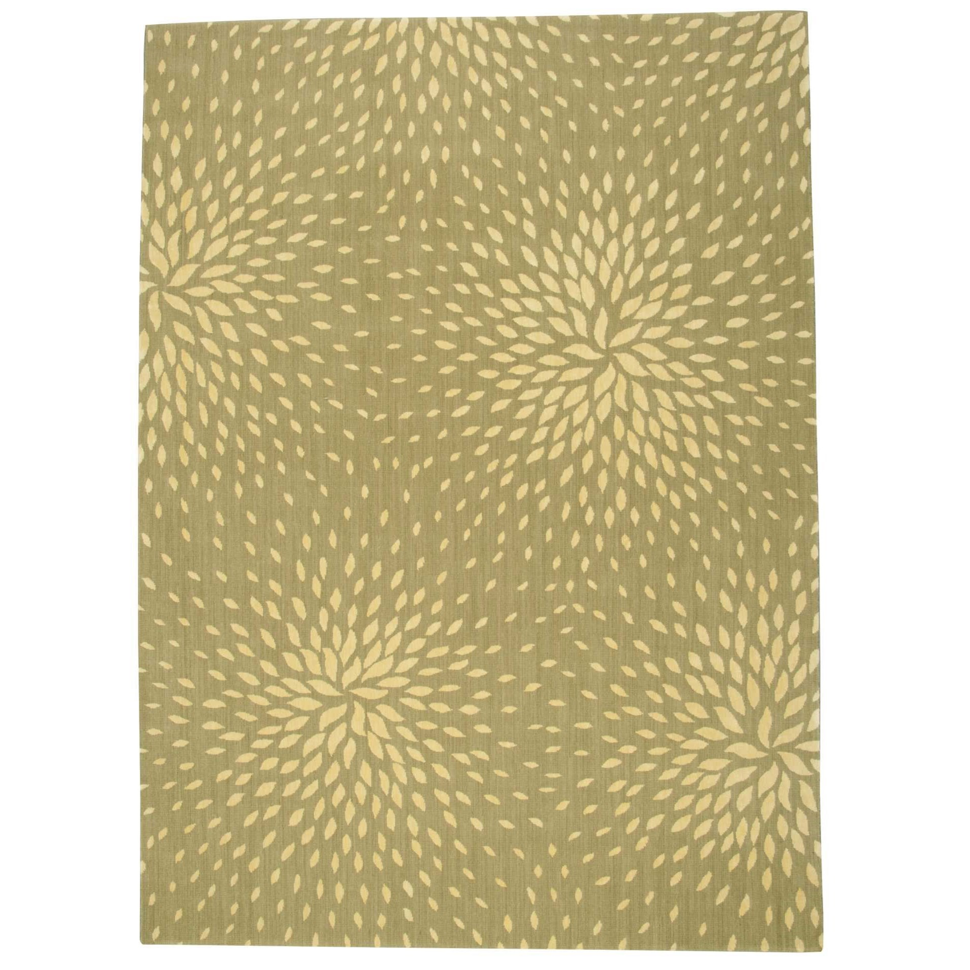 "Capri 7'9"" x 10'10"" Light Green Rectangle Rug by Nourison at Story & Lee Furniture"