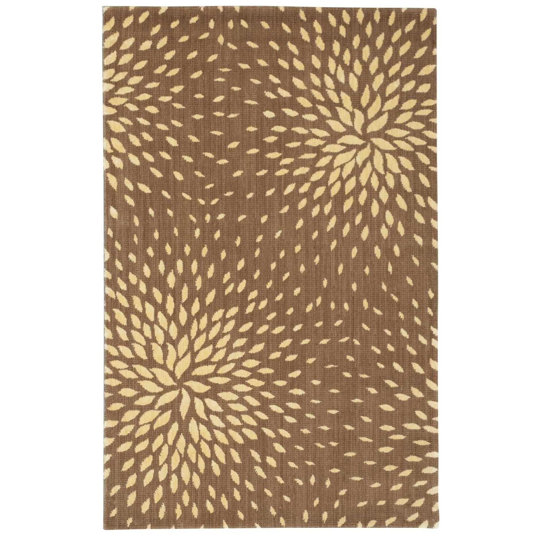 """Capri 3'6"""" x 5'6"""" Mocha Rectangle Rug by Nourison at Home Collections Furniture"""