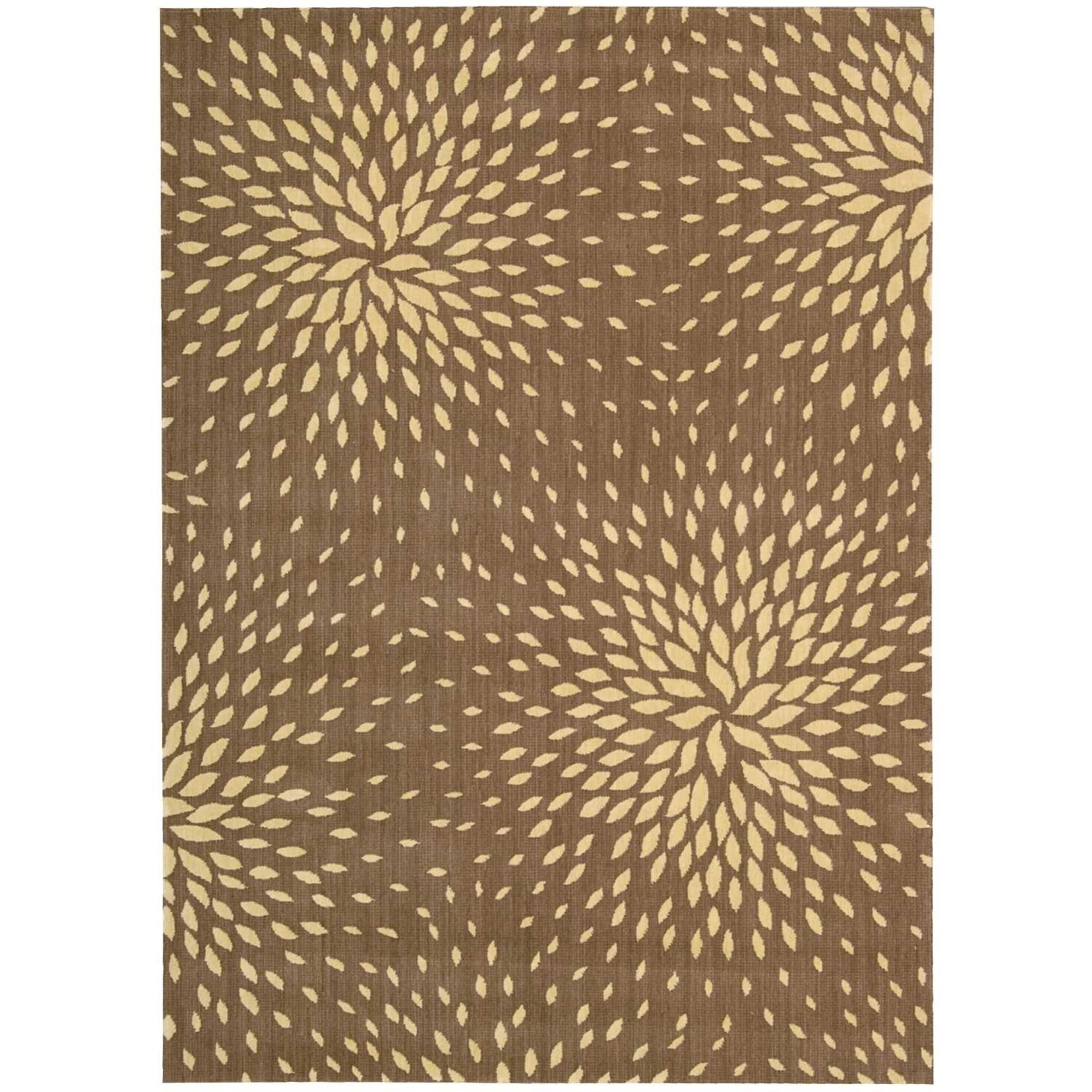 """Capri 9'6"""" x 13' Mocha Rectangle Rug by Nourison at Home Collections Furniture"""