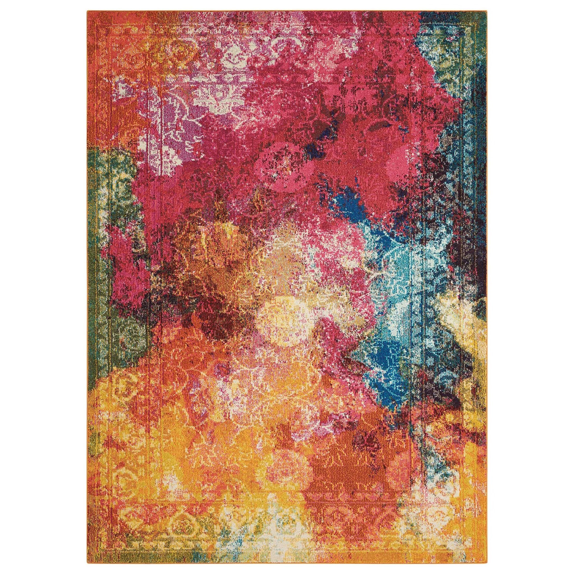 """Celestial 3'11"""" X 5'11"""" Seaglass Rug by Nourison at Home Collections Furniture"""