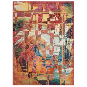 """7'10"""" X 10'6"""" Stained Glass Rug"""