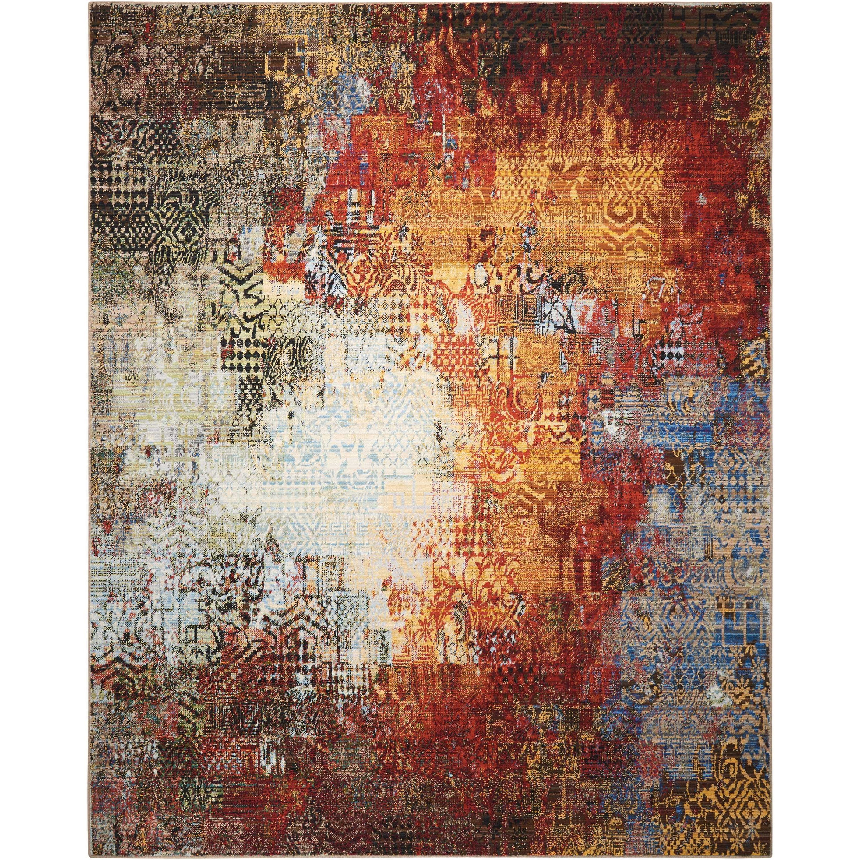 """Chroma 7'9"""" X 9'9"""" Ember Glow           Rug by Nourison at Home Collections Furniture"""