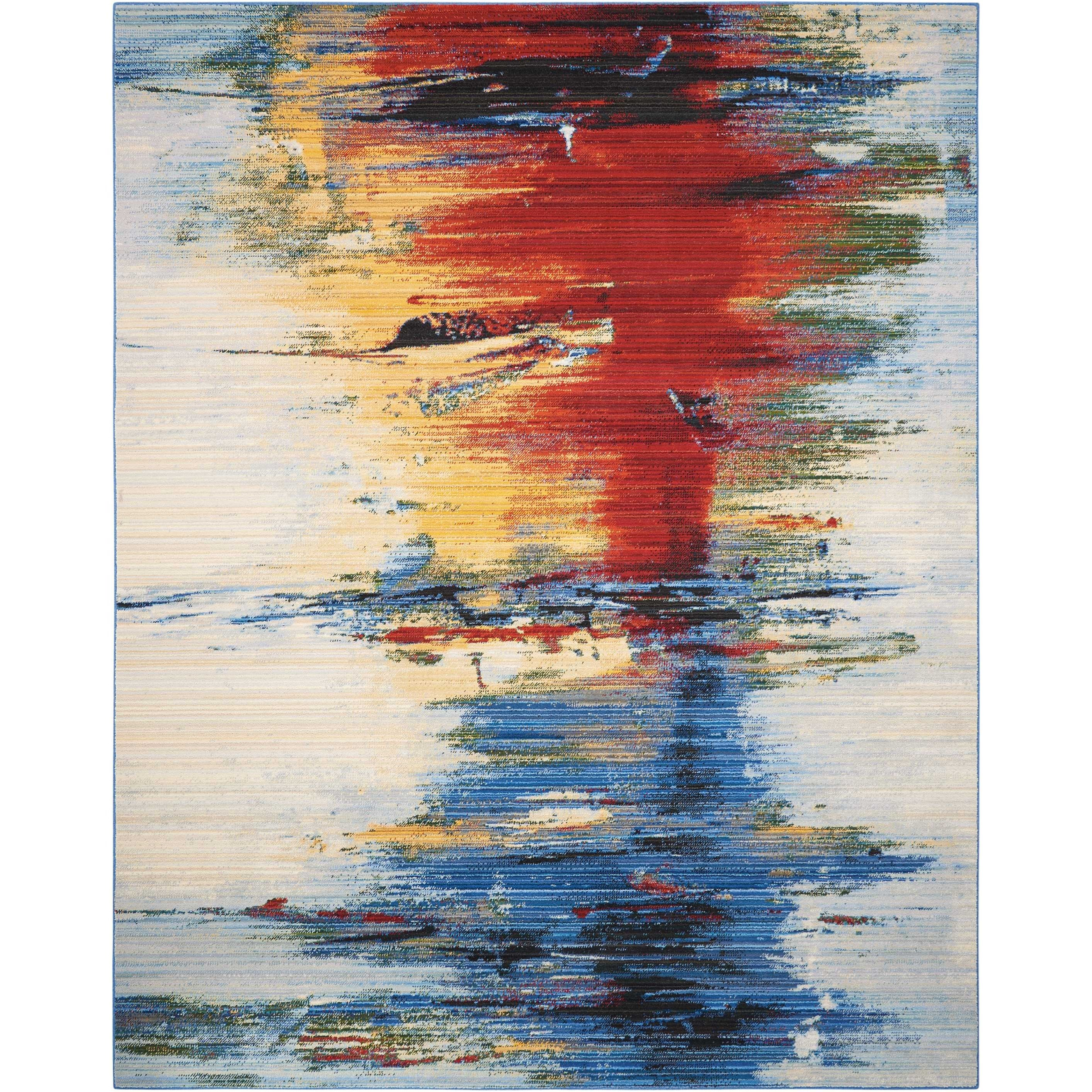 """Chroma 7'9"""" X 9'9"""" Crimson Tide         Rug by Nourison at Home Collections Furniture"""