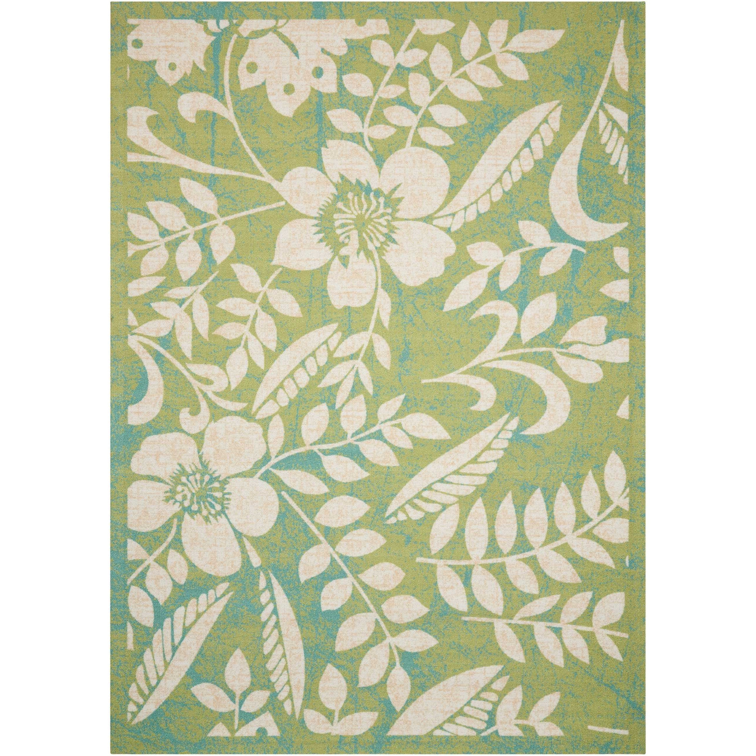 Coastal 10' X 13' Green Rug by Nourison at Sprintz Furniture