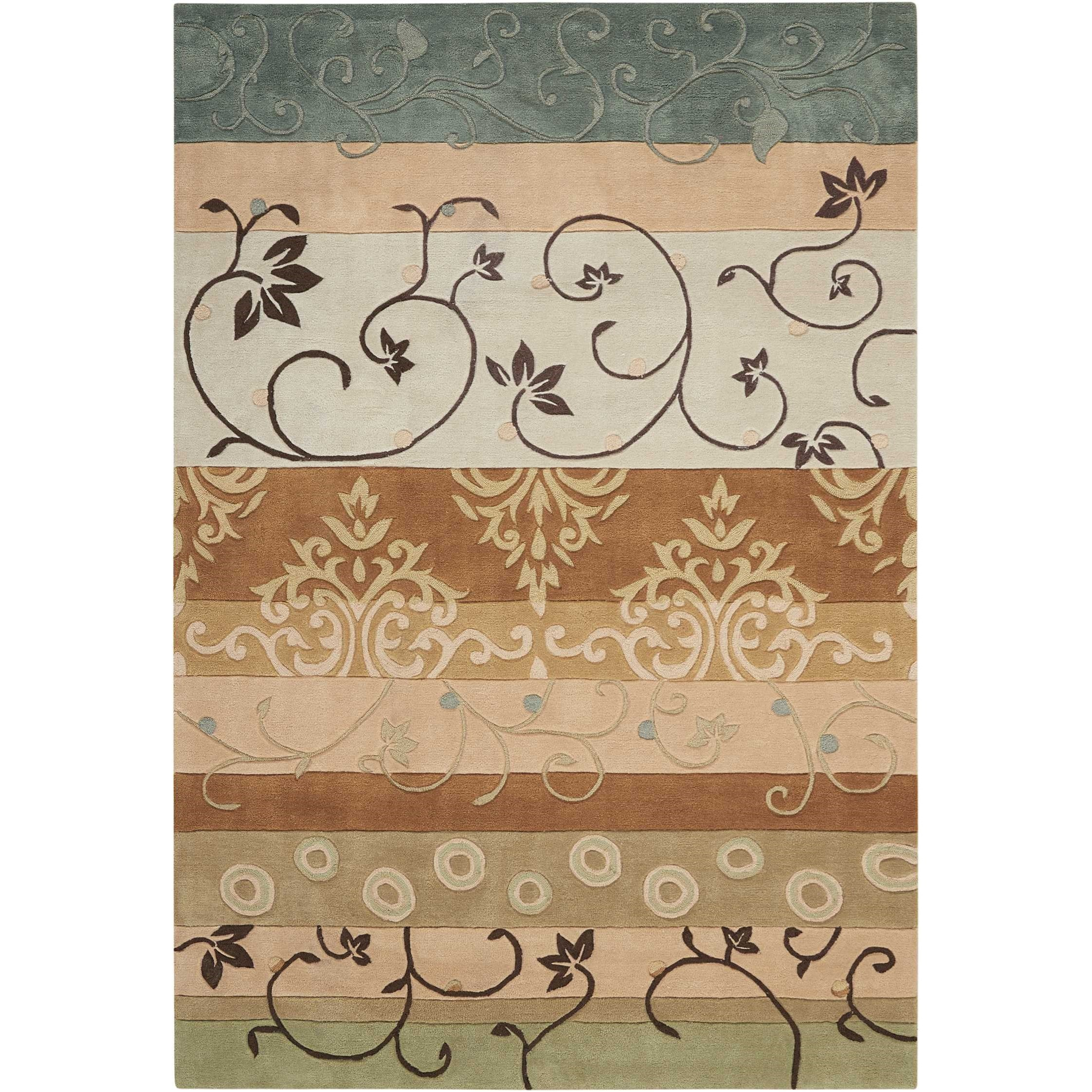 Contour Contour CON10 Green 8'x11'   Rug by Nourison at Home Collections Furniture