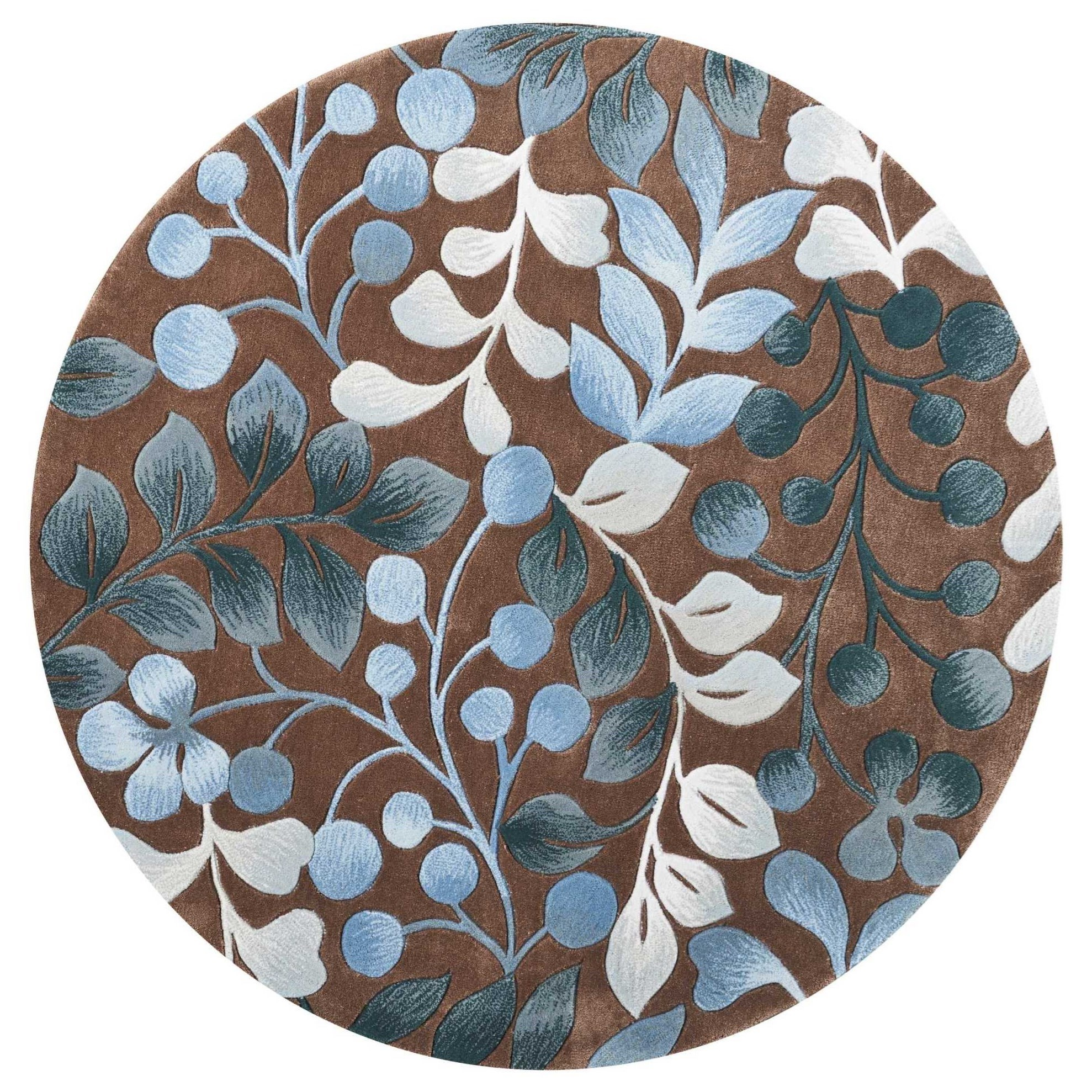 Contour Contour CON02 Brown 5' Round  Area Rug by Nourison at Story & Lee Furniture