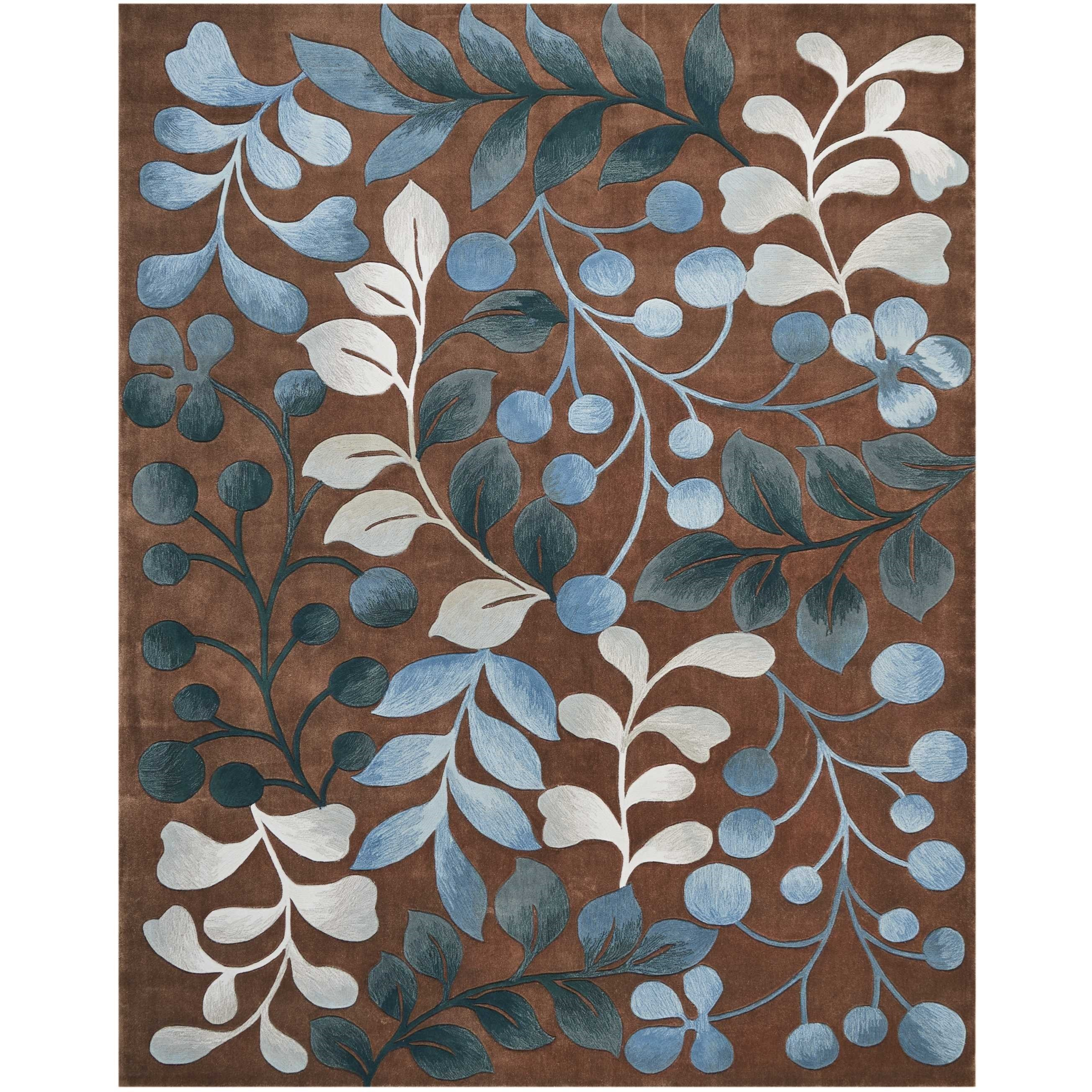 Contour Contour CON02 Brown 9'x12'   Rug by Nourison at Home Collections Furniture