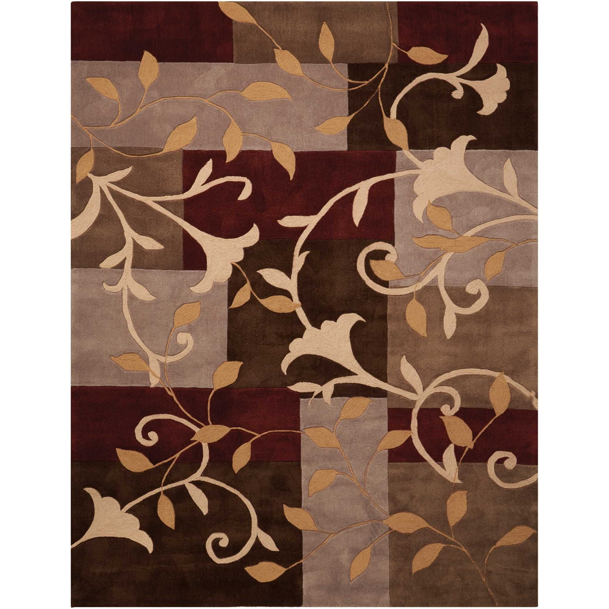 """Contour 7'3"""" x 9'3"""" Mocha Rectangle Rug by Nourison at Home Collections Furniture"""