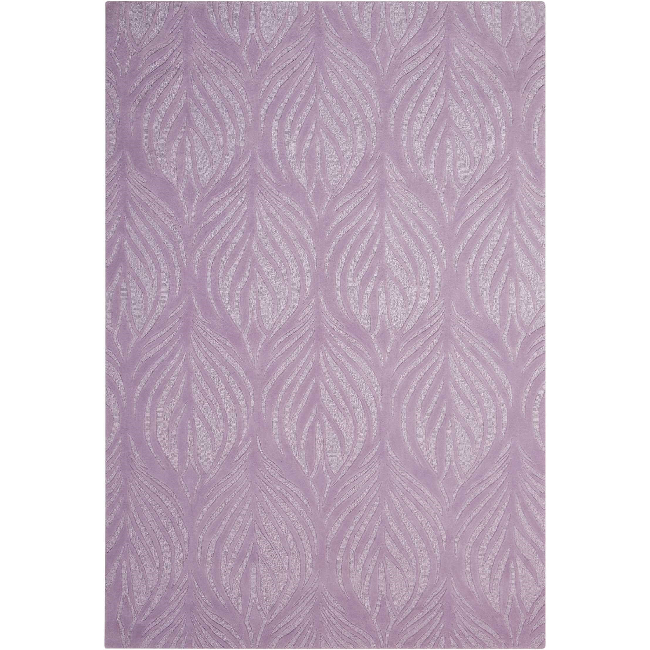 """Contour 3'6"""" x 5'6"""" Lavender Rectangle Rug by Nourison at Home Collections Furniture"""