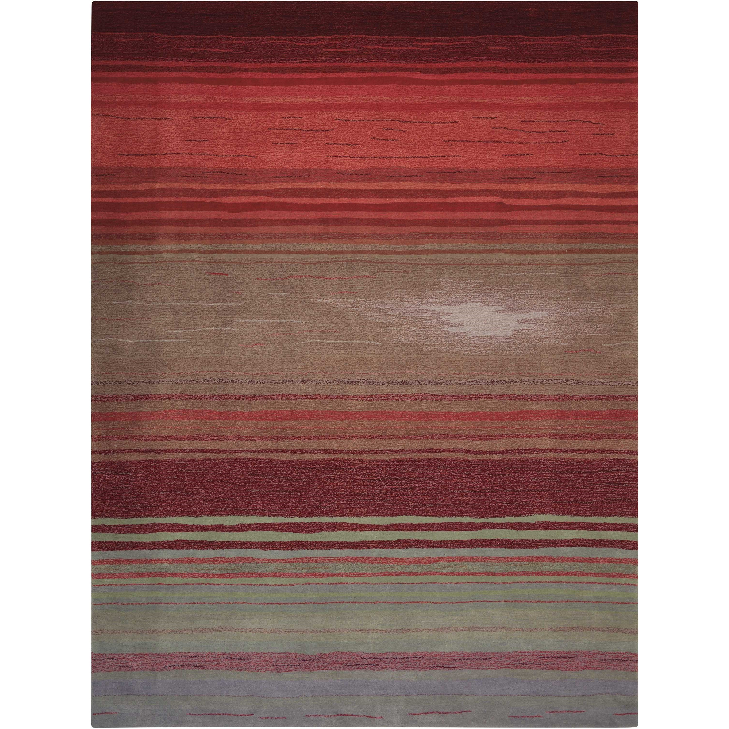 """Contour 8' x 10'6"""" Flame Rectangle Rug by Nourison at Home Collections Furniture"""
