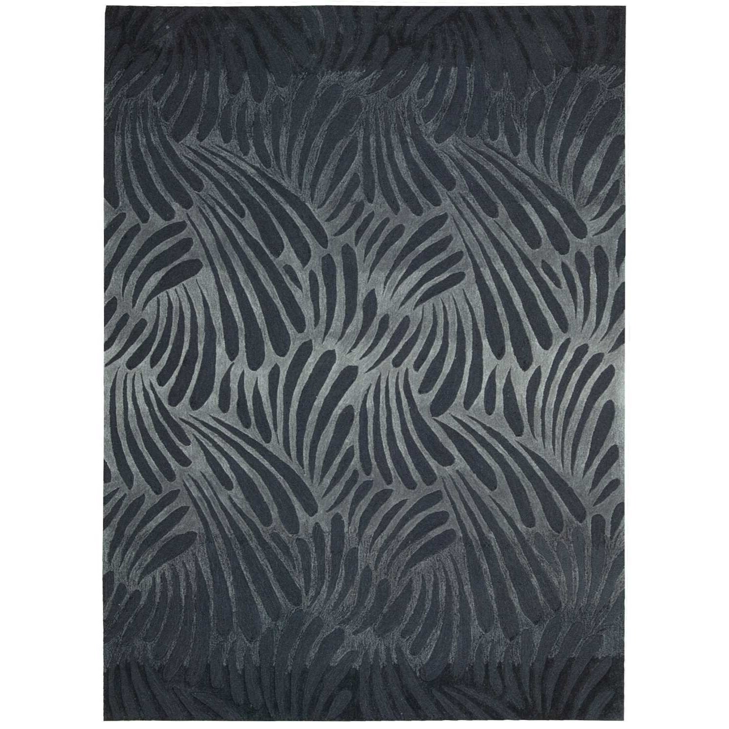 """Contour 3'6"""" x 5'6"""" Charcoal Rectangle Rug by Nourison at Home Collections Furniture"""