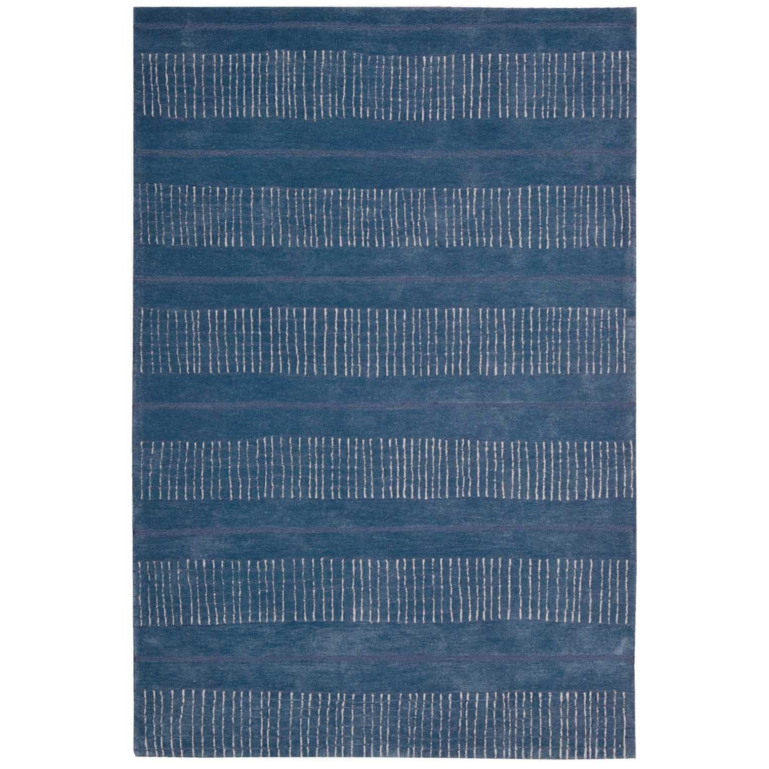 """Contour 5' x 7'6"""" Denim Rectangle Rug by Nourison at Home Collections Furniture"""