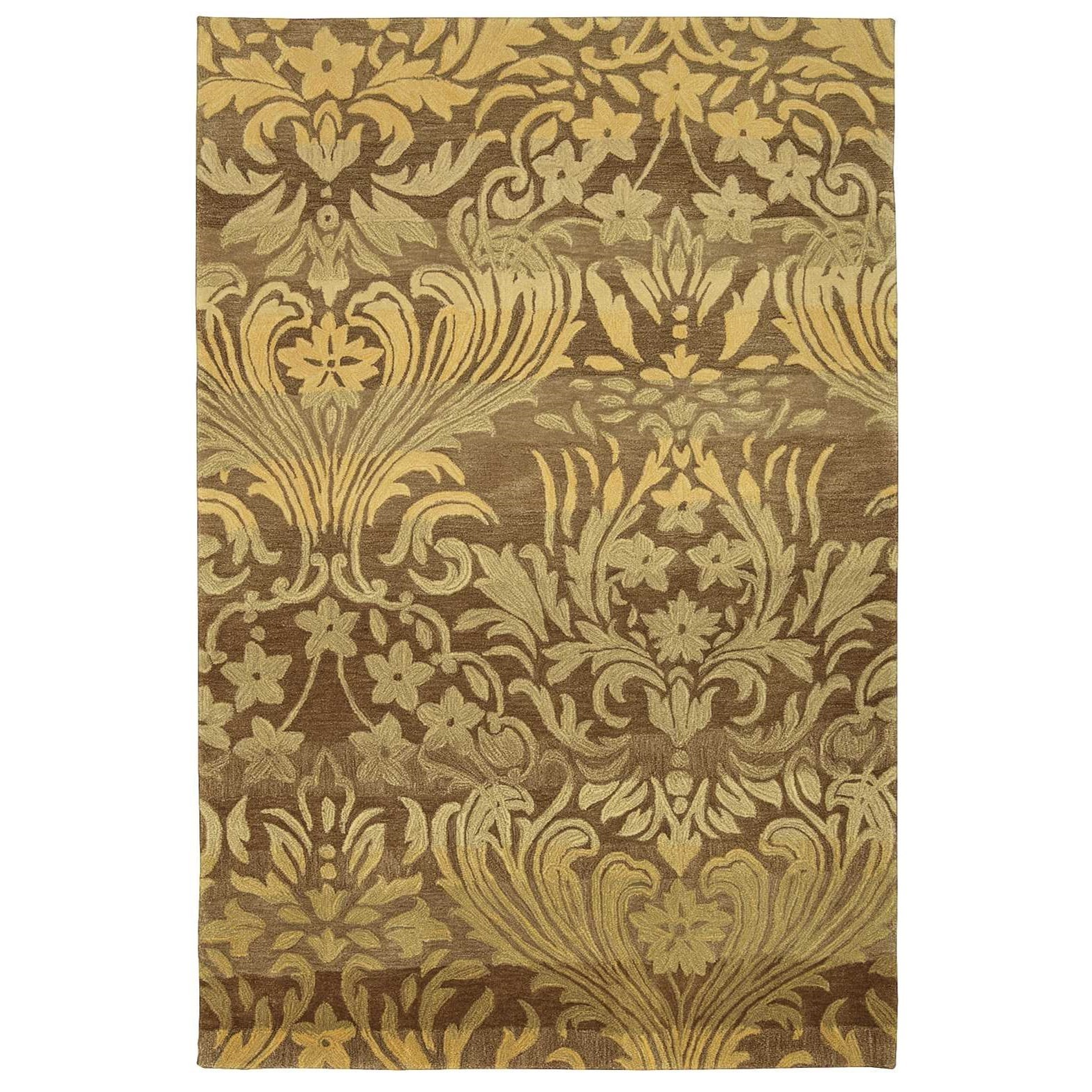 """Contour 7'3"""" x 9'3"""" Latte Rectangle Rug by Nourison at Home Collections Furniture"""