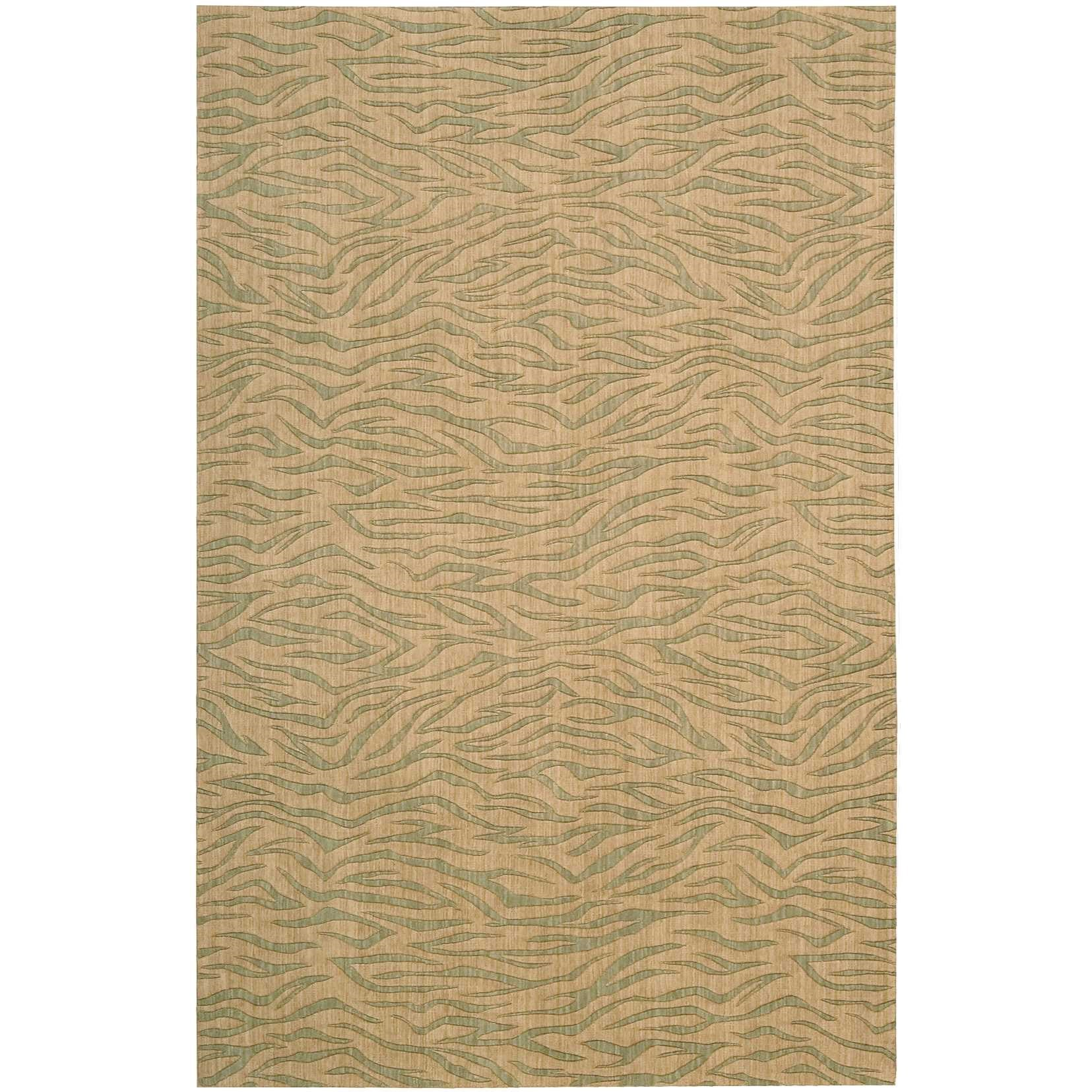 "Cosmopolitan 3'6"" x 5'6"" Beige Green Rectangle Rug by Nourison at Home Collections Furniture"