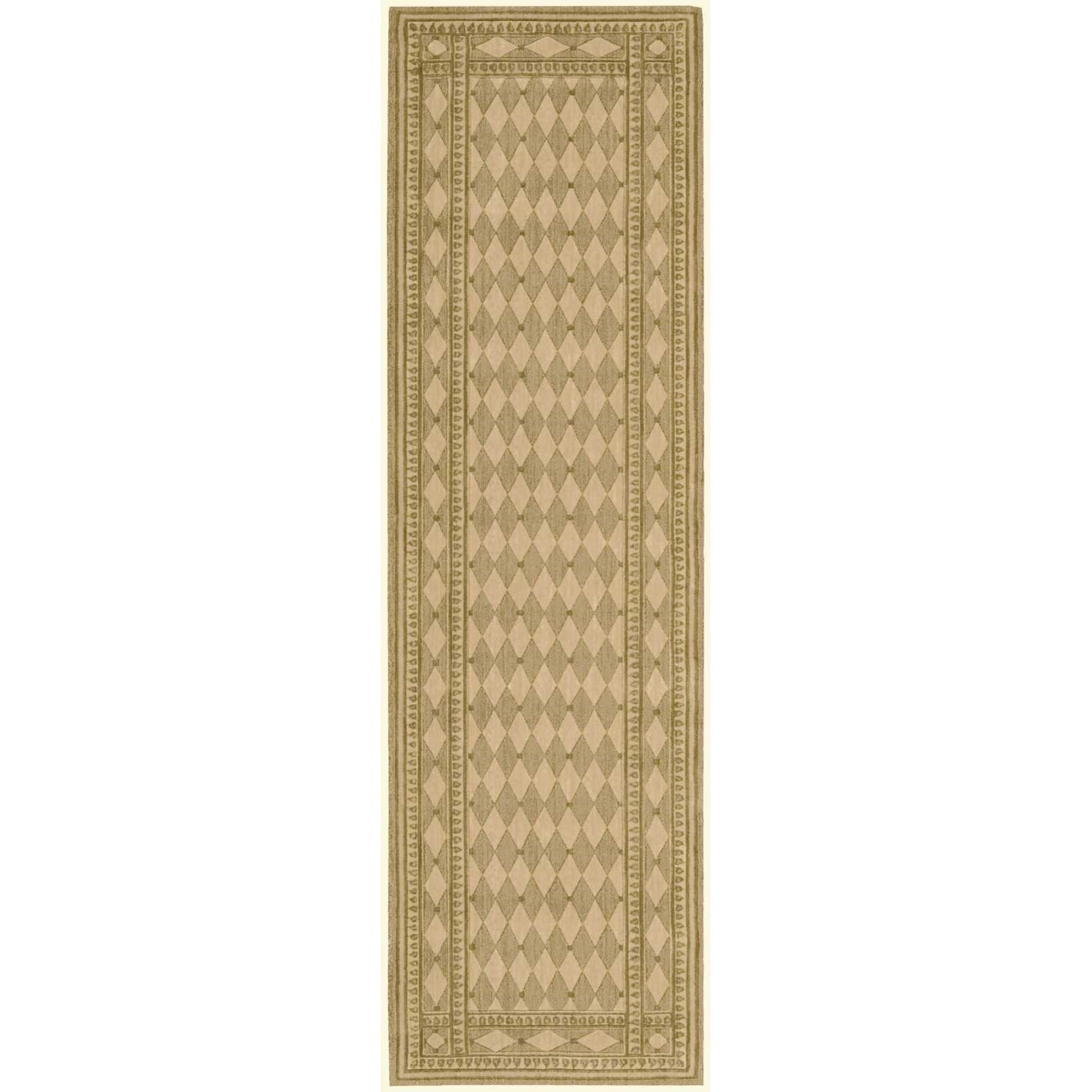 """Cosmopolitan 2'3"""" x 8' Honey Runner Rug by Nourison at Home Collections Furniture"""