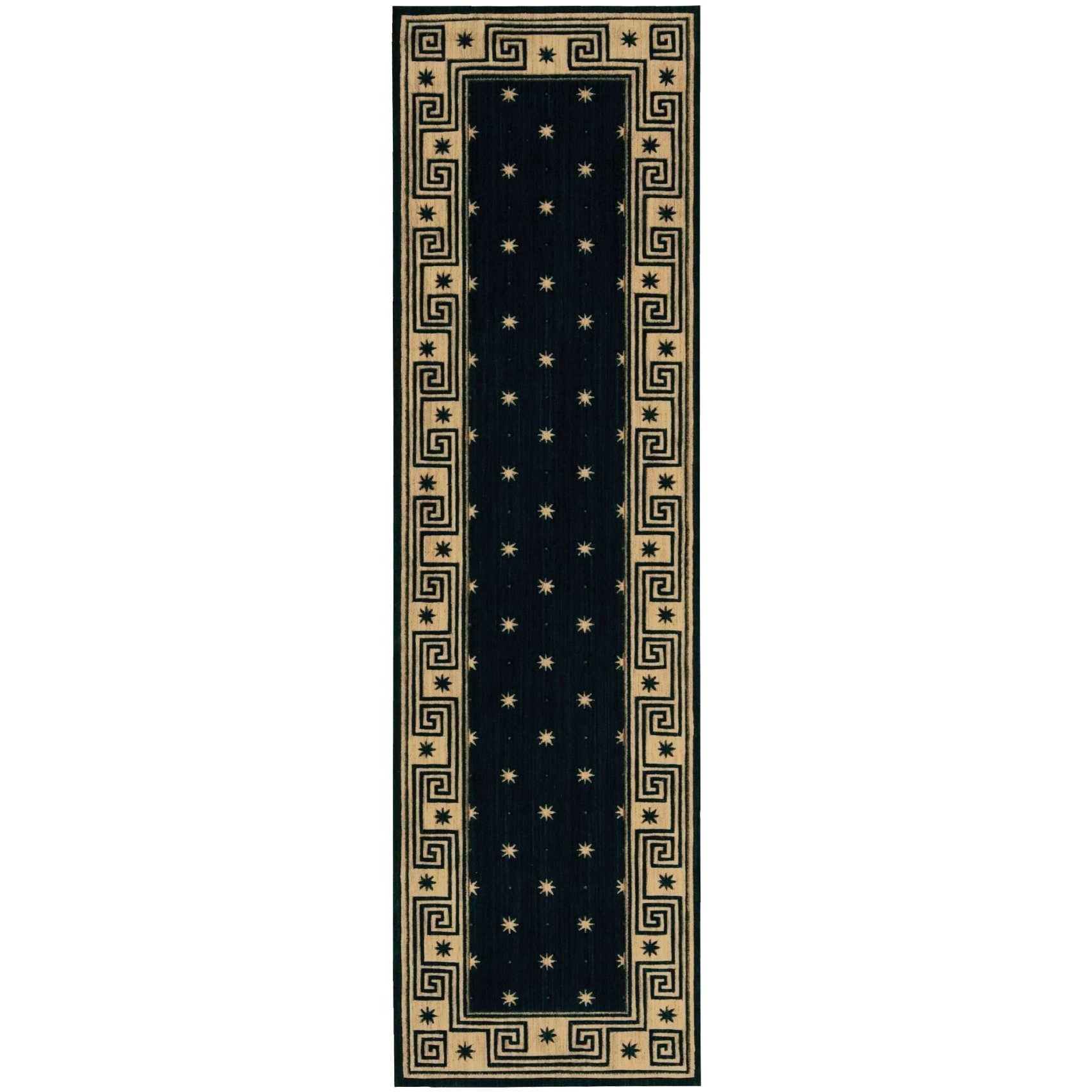 """Cosmopolitan 2'3"""" x 8' Midnight Runner Rug by Nourison at Home Collections Furniture"""