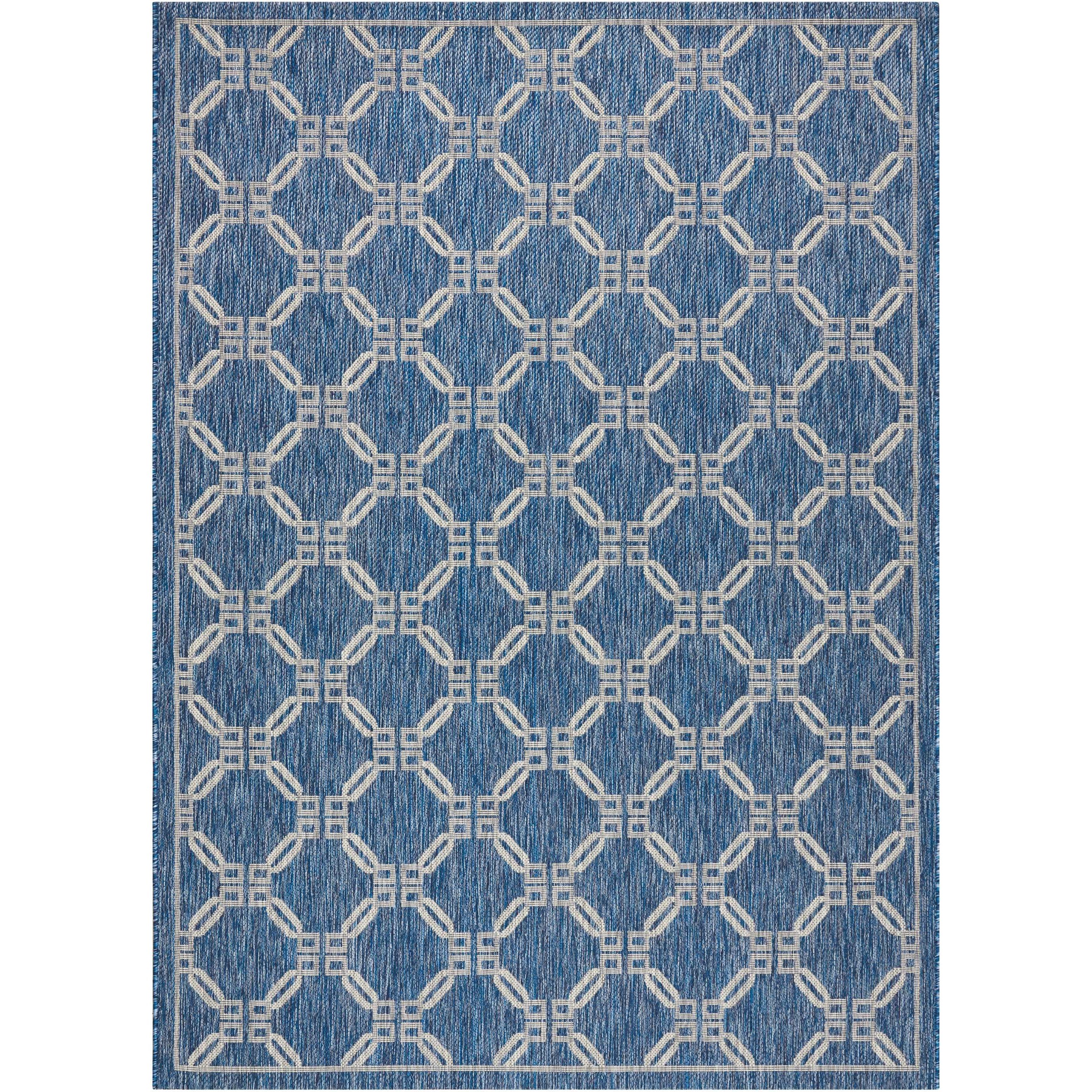"""Country Side 7'10"""" X 10'6"""" Denim                Rug by Nourison at Home Collections Furniture"""