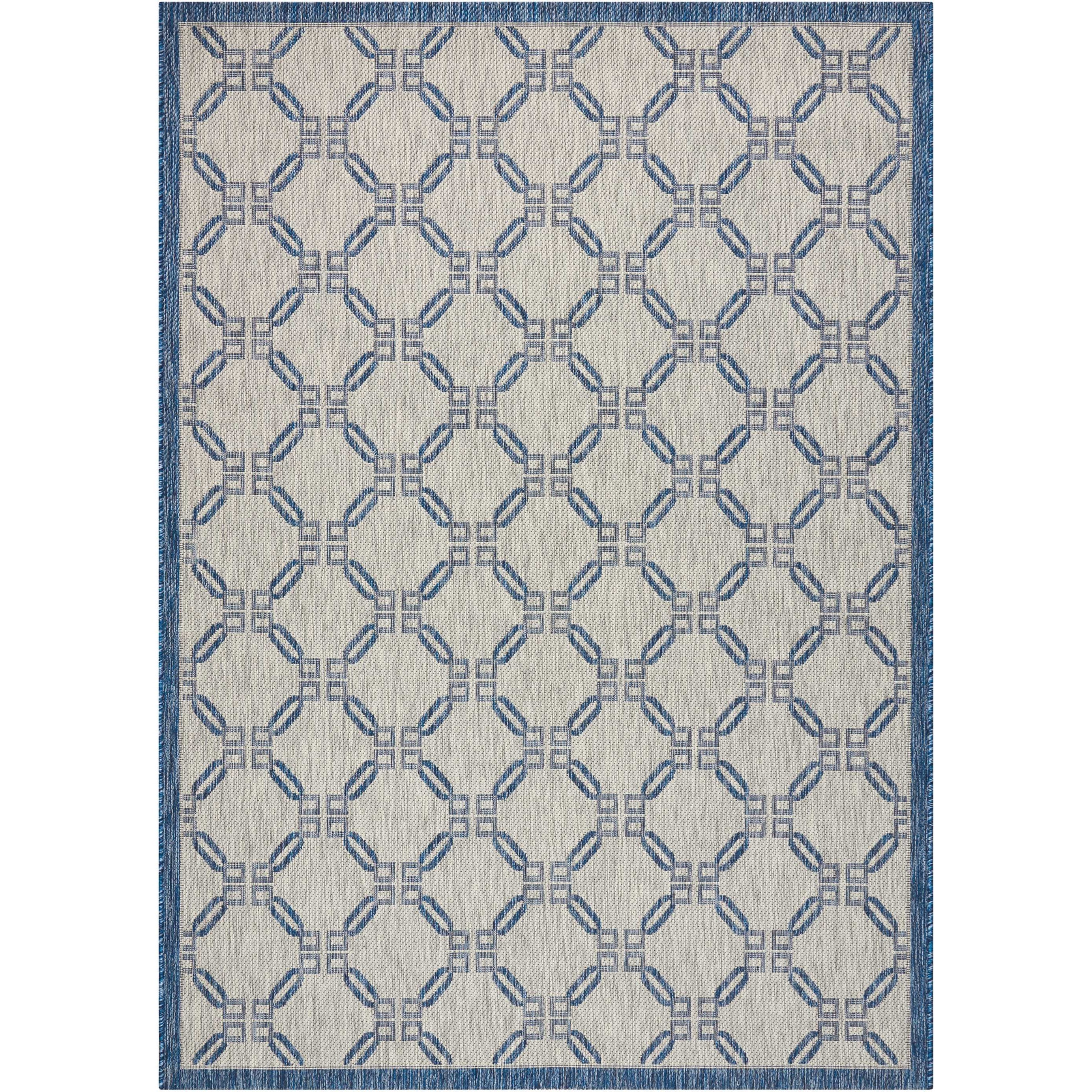 "Country Side 7'10"" X 10'6"" Ivory Blue           Rug by Nourison at Home Collections Furniture"