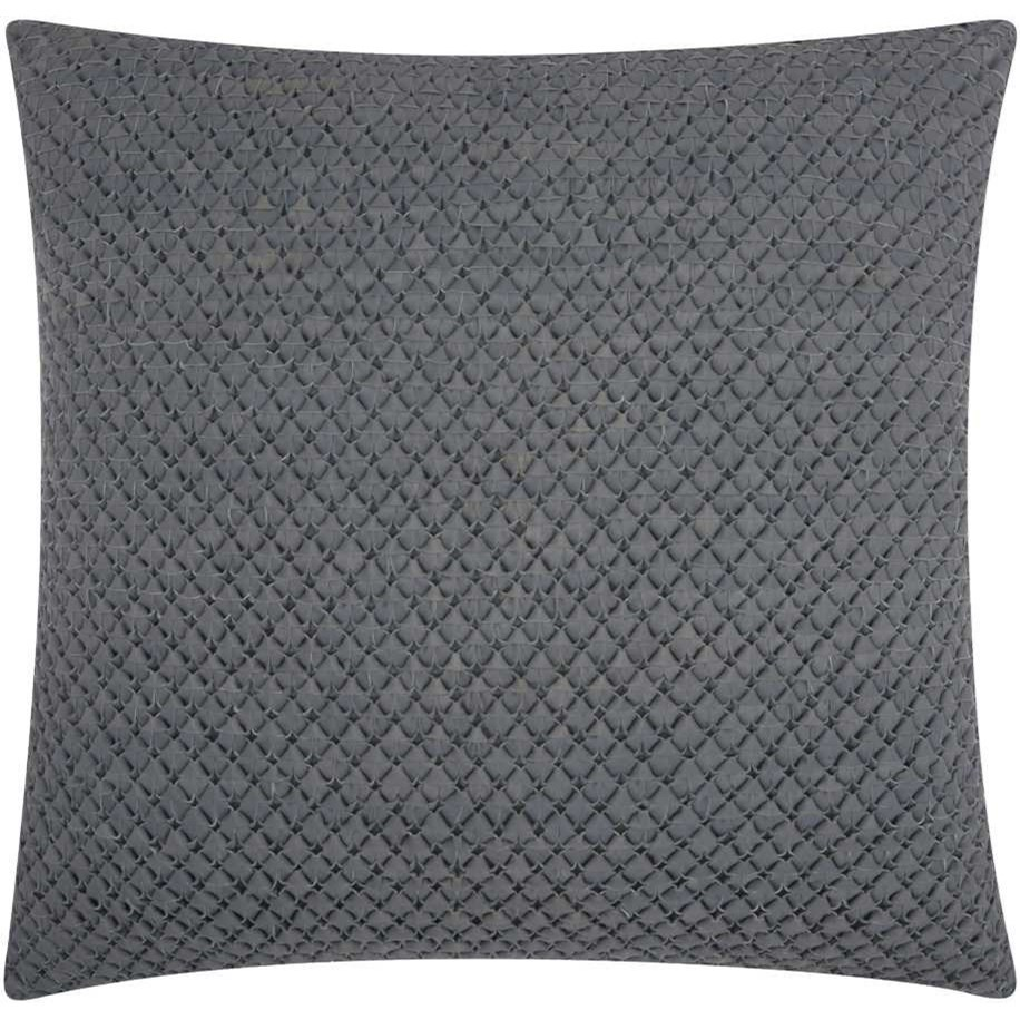 """Couture Nat Hide PD280 Grey 20"""" x 20"""" Throw Pillow by Nourison at Miller Waldrop Furniture and Decor"""