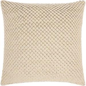 """PD280 White 20"""" x 20"""" Throw Pillow"""