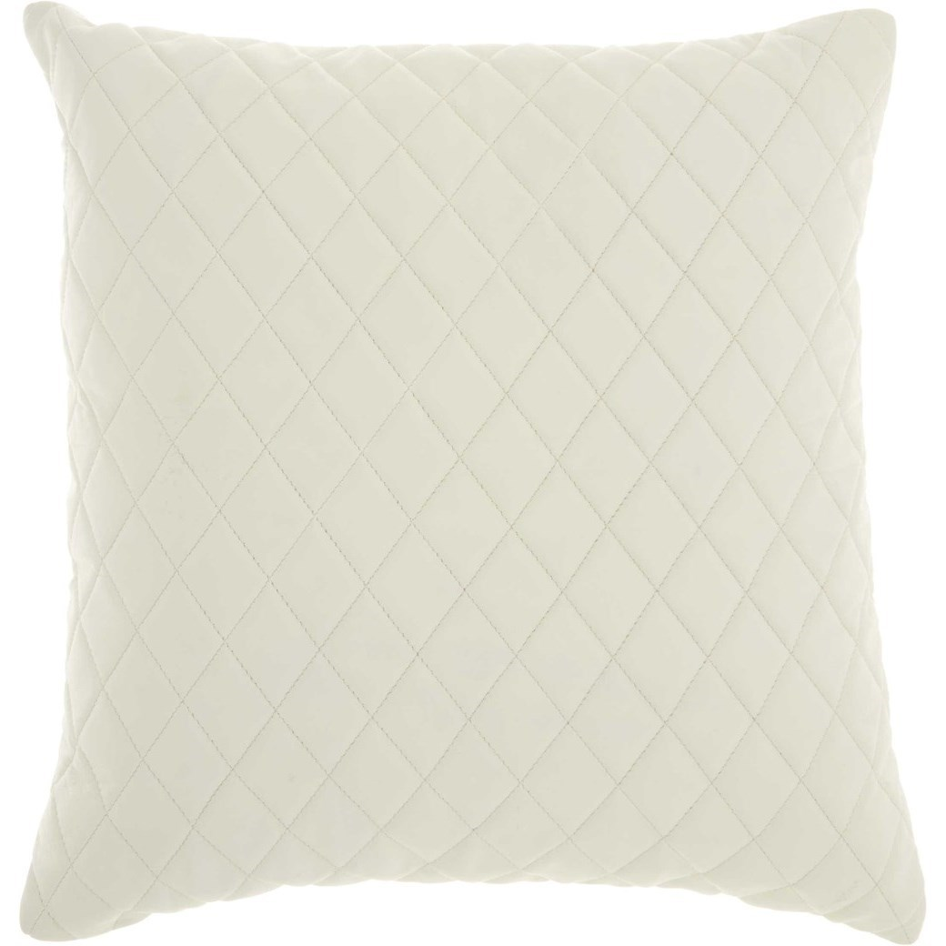 """Couture Nat Hide PD031 Ivory 20"""" x 20"""" Throw Pillow by Nourison at Miller Waldrop Furniture and Decor"""