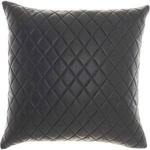 "PD031 Black 20"" x 20"" Throw Pillow"