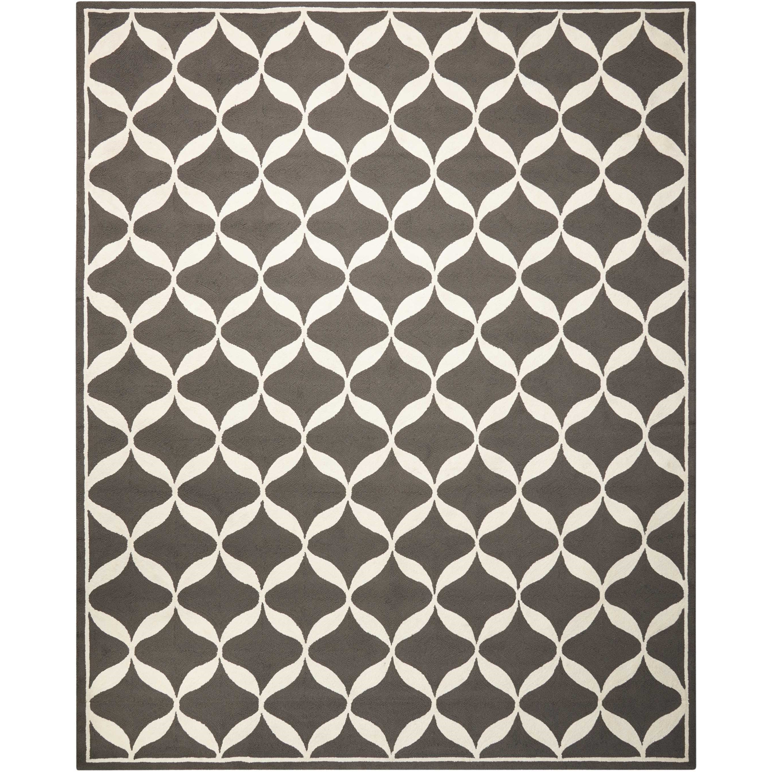 Decor1 8' X 10' Grey/White Rug by Nourison at Adcock Furniture